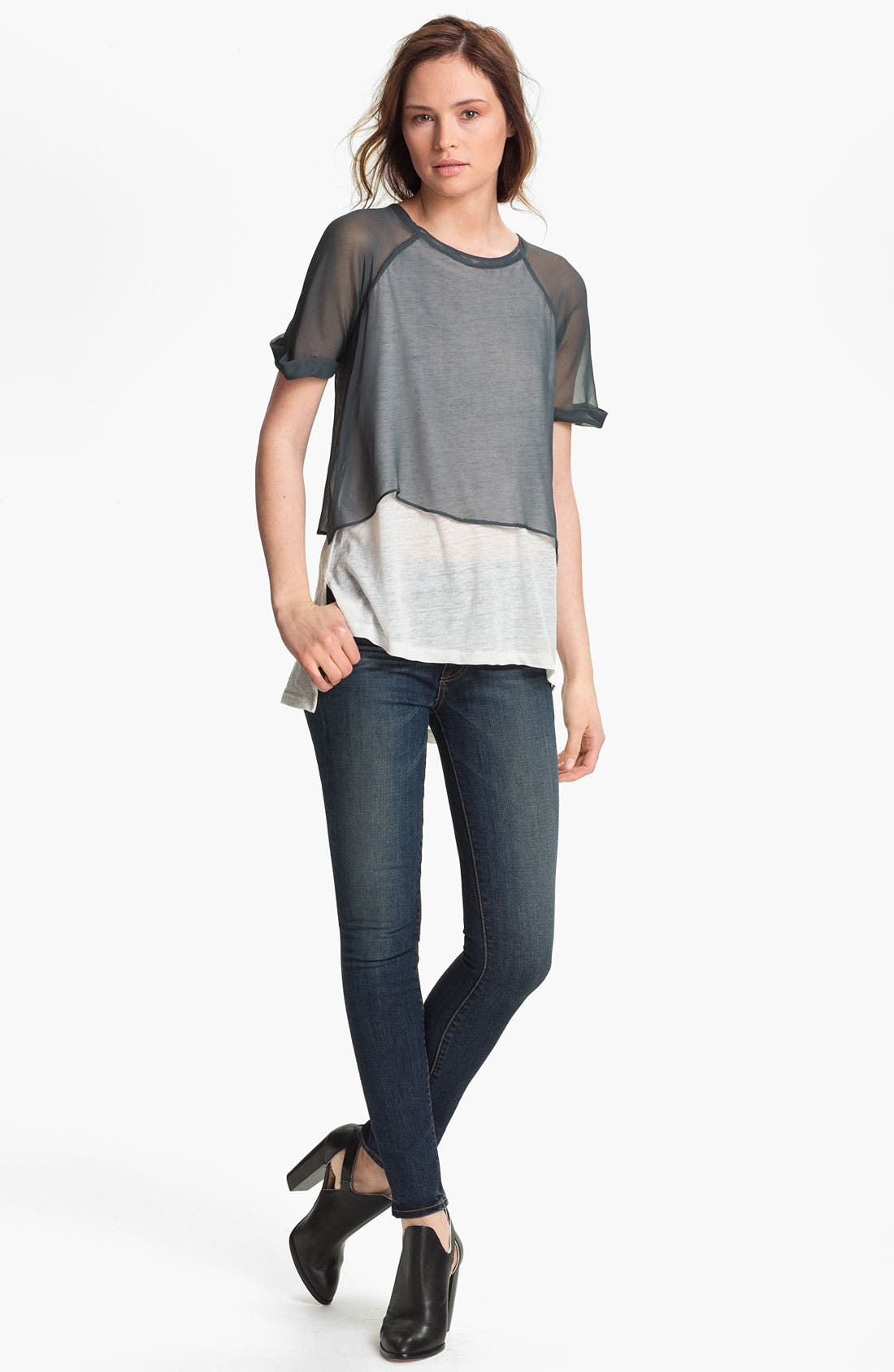 Alternate Image 1 Selected - Elizabeth and James 'Amina' Double Layer Tee