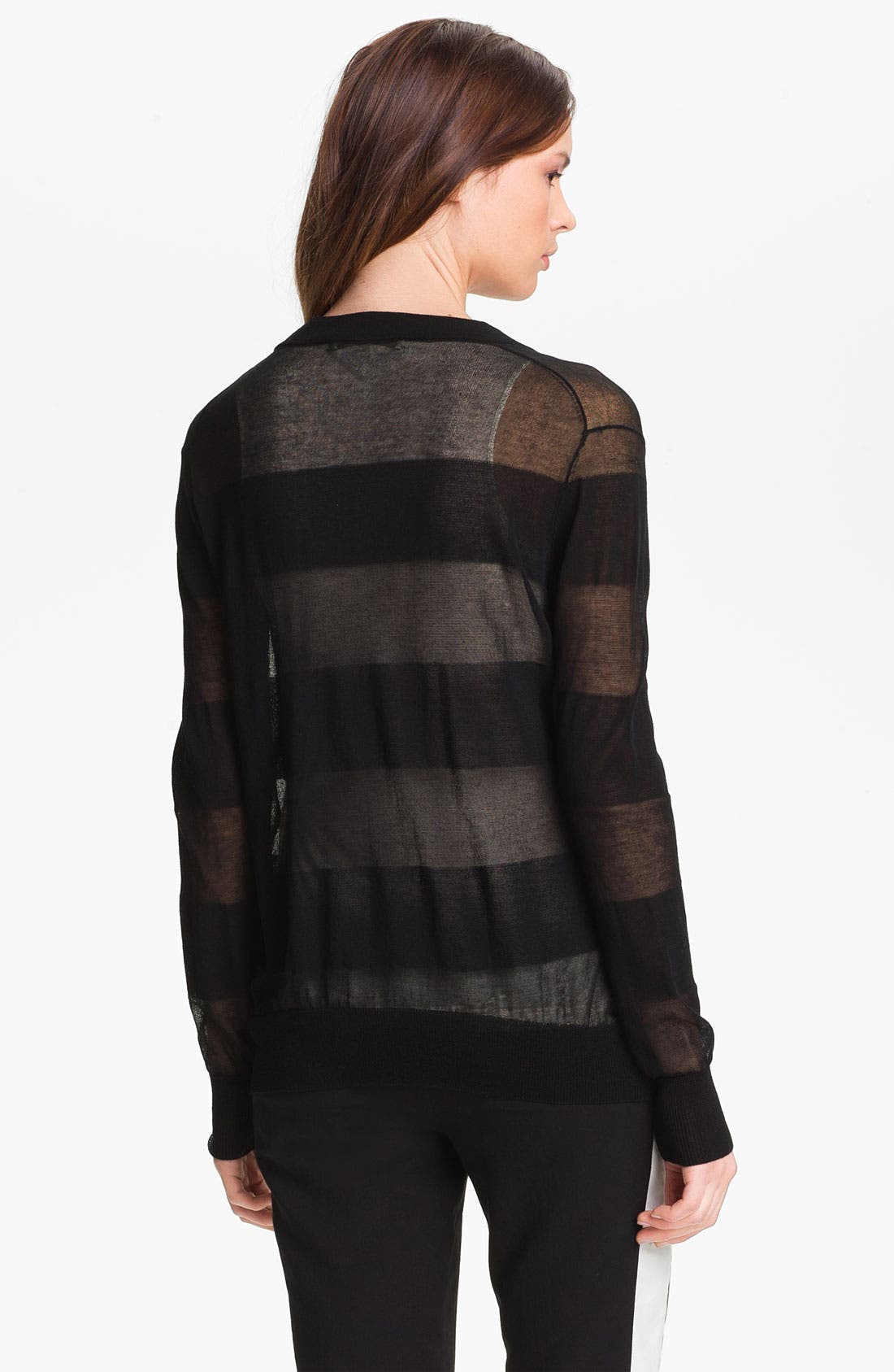 Alternate Image 4  - Halston Heritage Sheer Cardigan