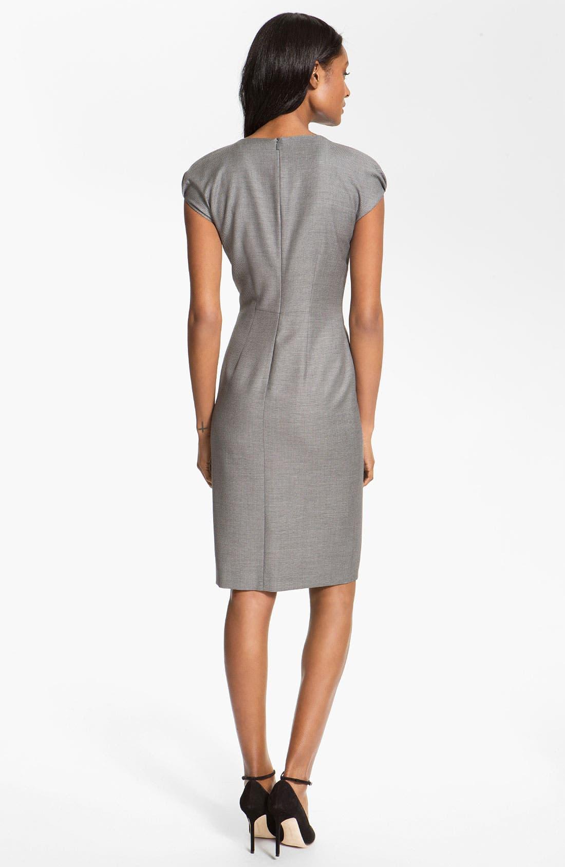 Alternate Image 2  - BOSS Black 'Denna' Stretch Wool Blend Dress