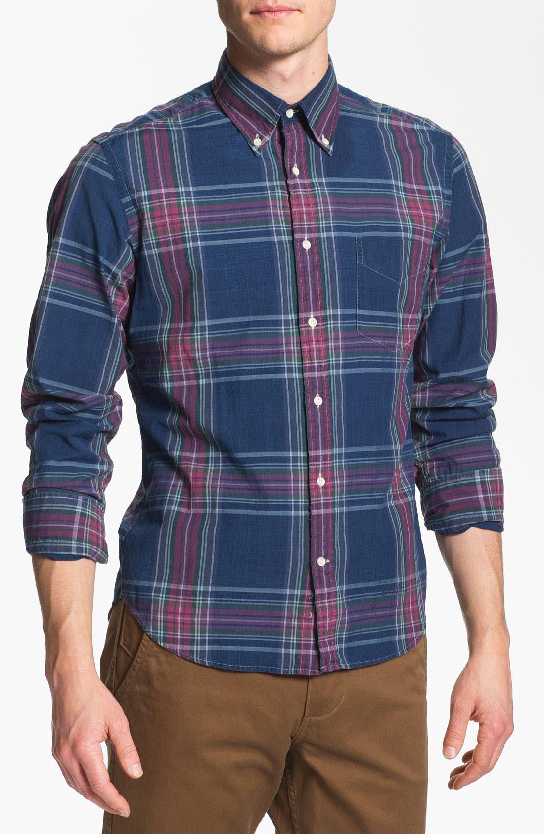 Alternate Image 1 Selected - Gant Rugger Madras Plaid Woven Shirt