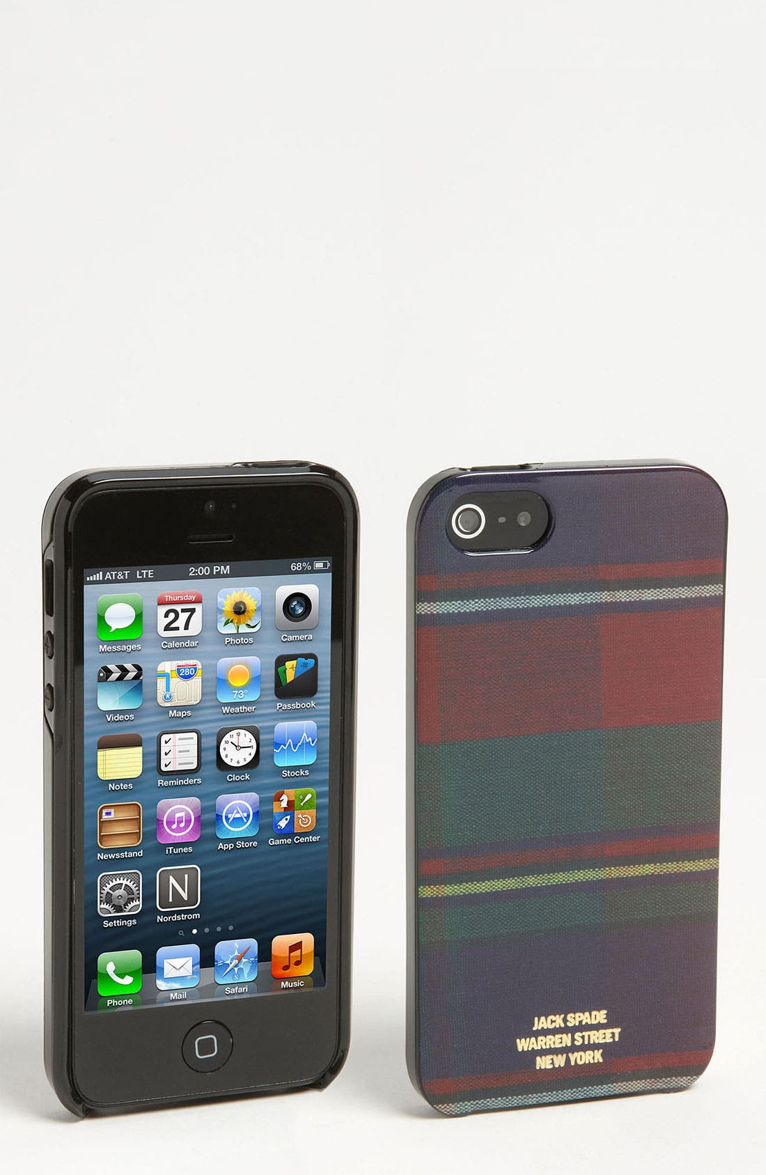 Alternate Image 1 Selected - Jack Spade 'Flannel Plaid' iPhone 5 Case