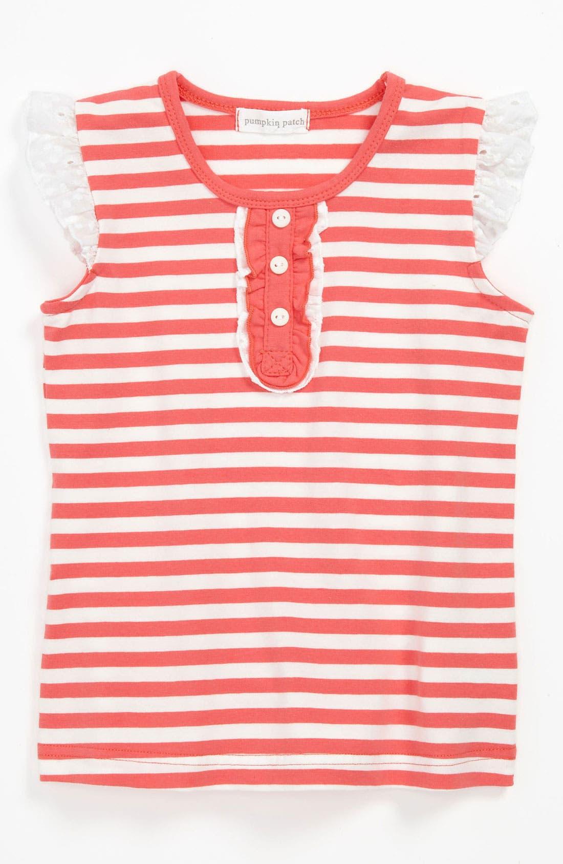 Alternate Image 1 Selected - Pumpkin Patch Skinny Stripe Top (Toddler)