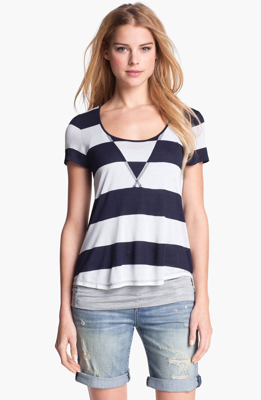 Alternate Image 1 Selected - Two by Vince Camuto 'Cabana' Stripe Tee