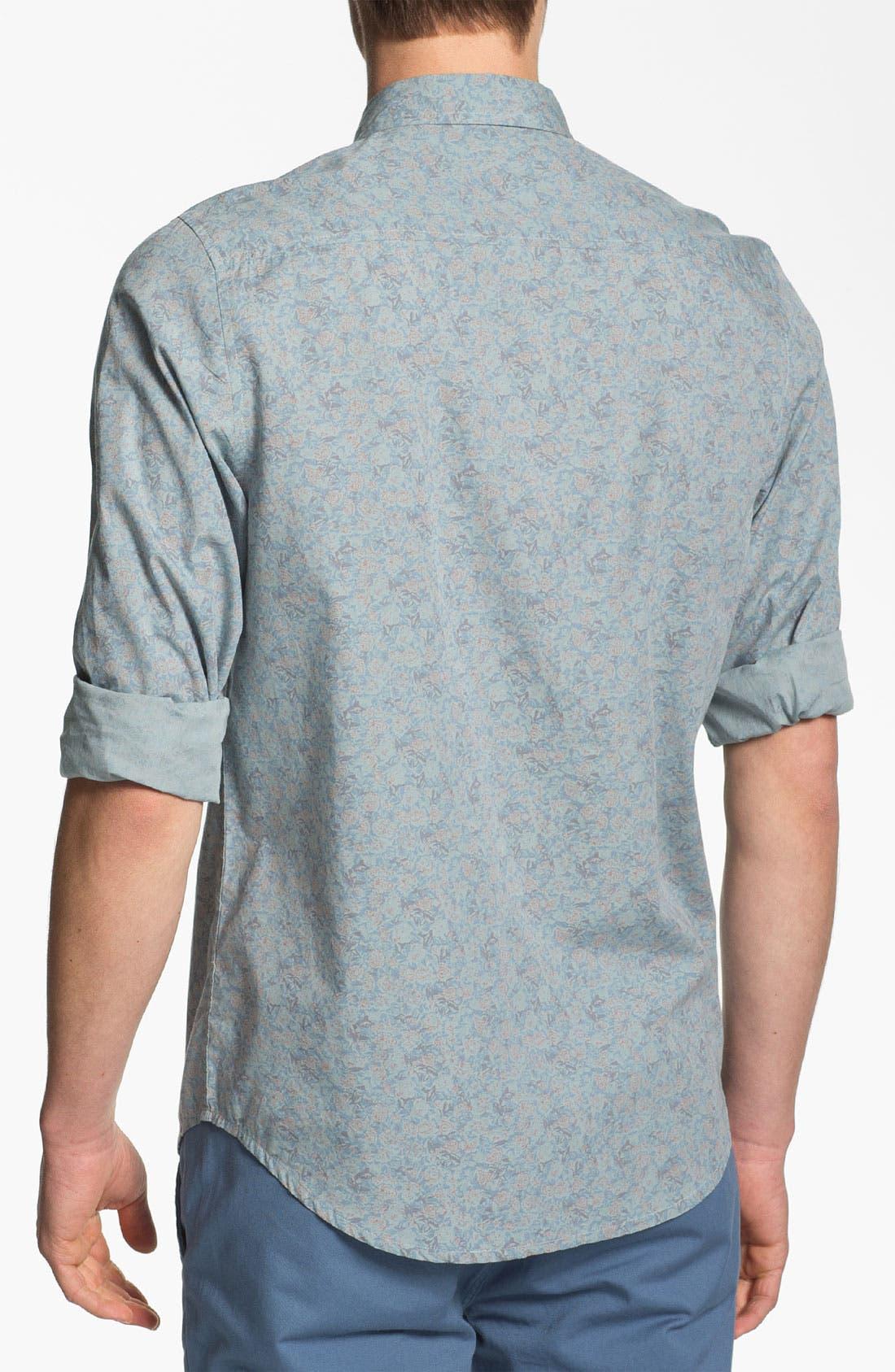 Alternate Image 2  - Topman Floral Print Shirt