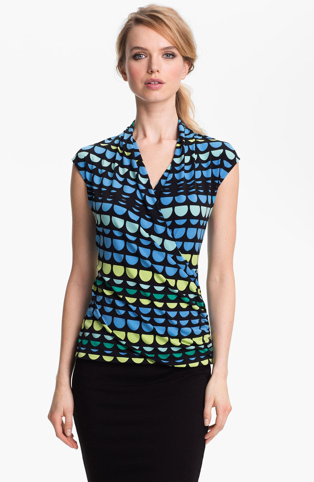 Alternate Image 1 Selected - Vince Camuto Faux Wrap Top
