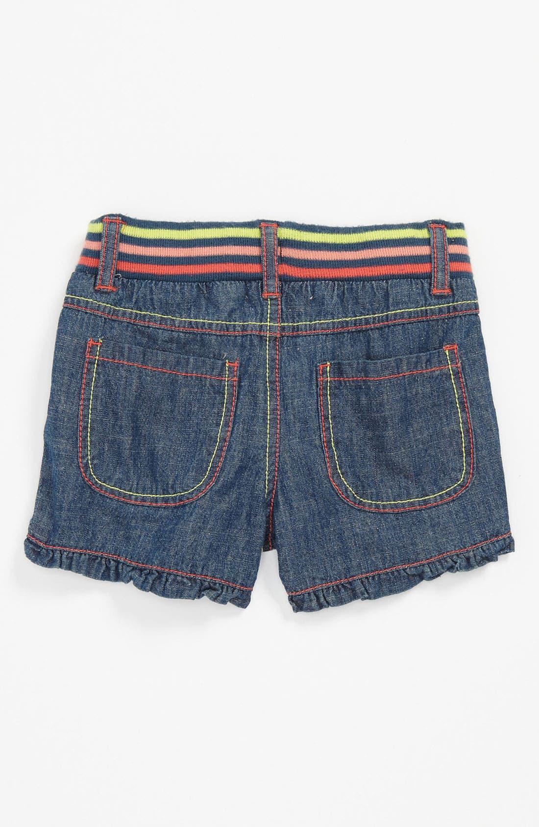 Alternate Image 1 Selected - Pumpkin Patch Denim Shorts (Baby)