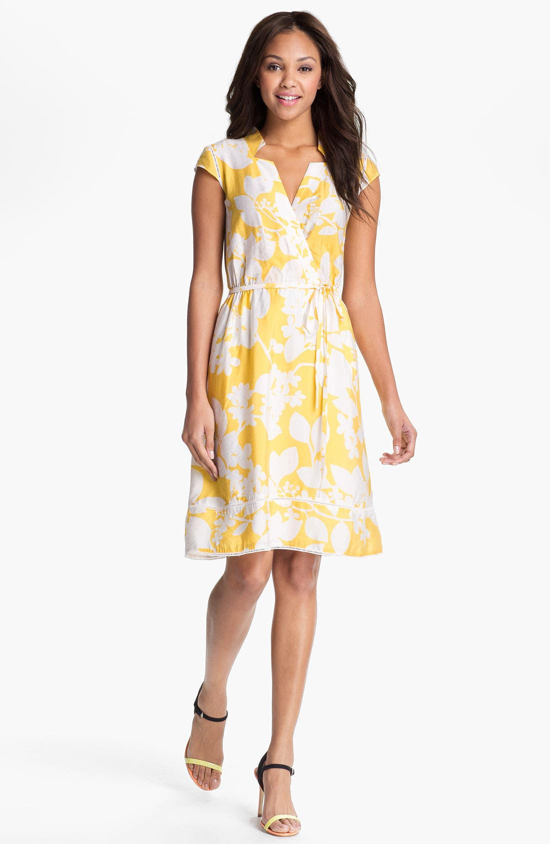 Alternate Image 1 Selected - Adrianna Papell Floral Print Shirtdress