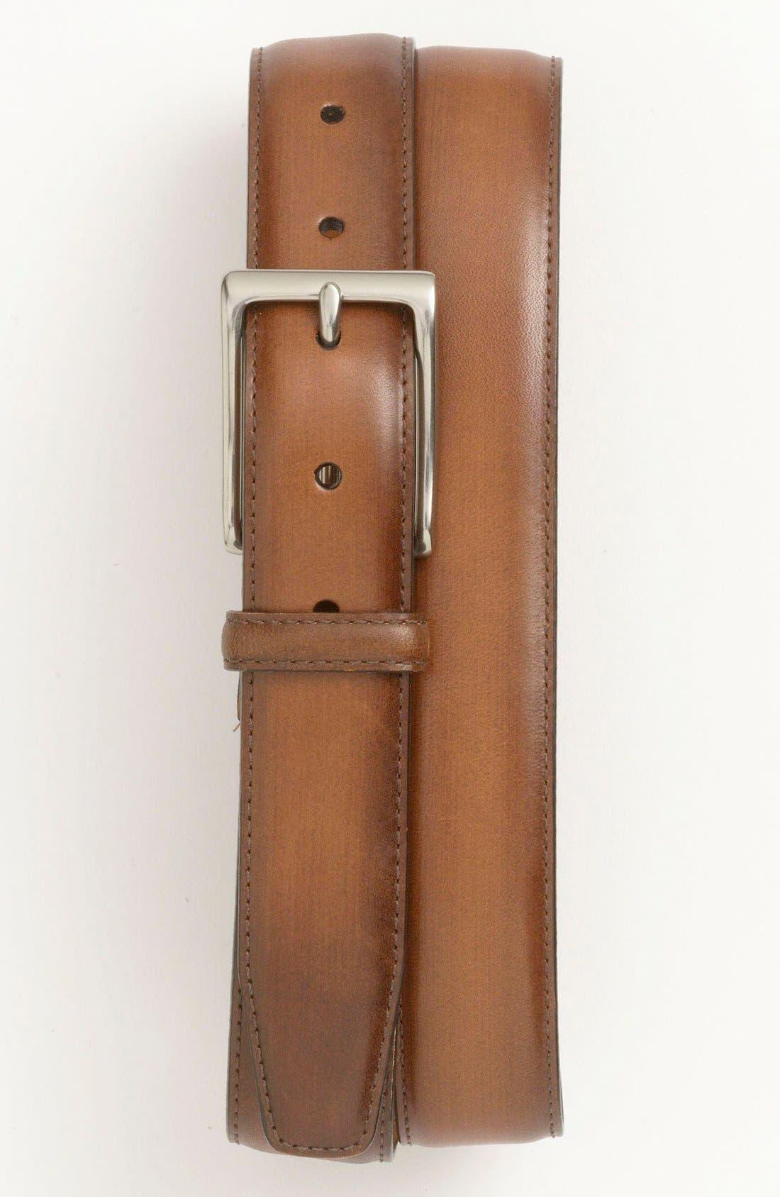 Alternate Image 1 Selected - John W. Nordstrom Burnished Saddle Leather Belt