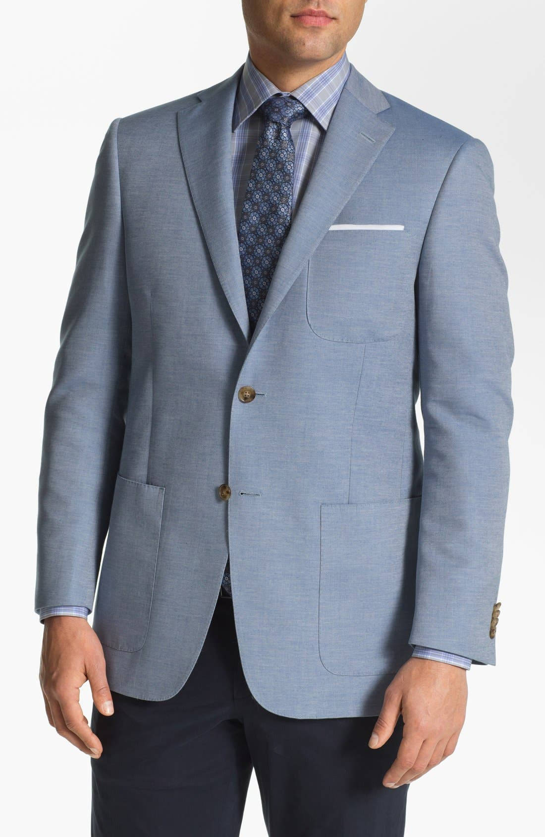 Alternate Image 1 Selected - Hart Schaffner Marx Cotton Blend Blazer