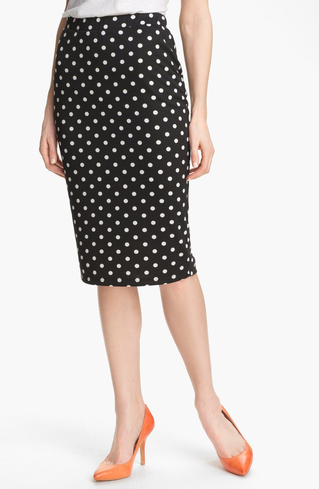 Alternate Image 1 Selected - Bobeau Dot Midi Skirt