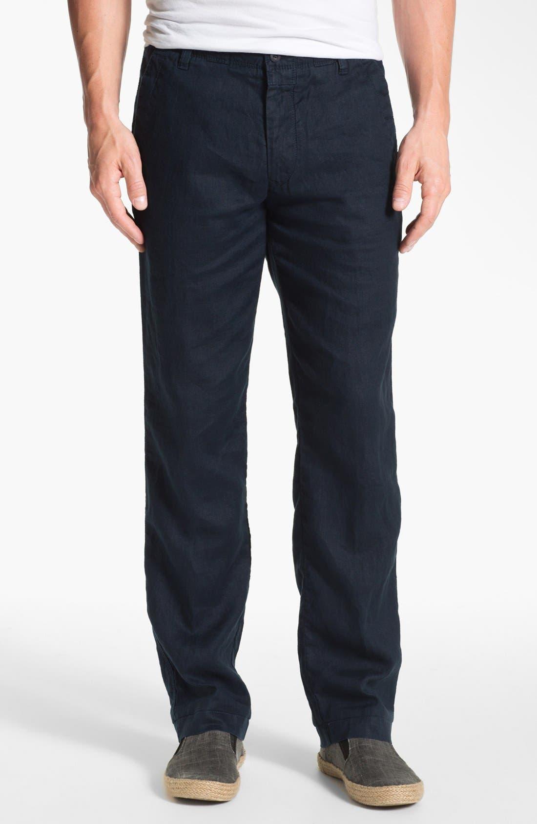 Alternate Image 1 Selected - BOSS HUGO BOSS 'Callum' Linen Pants