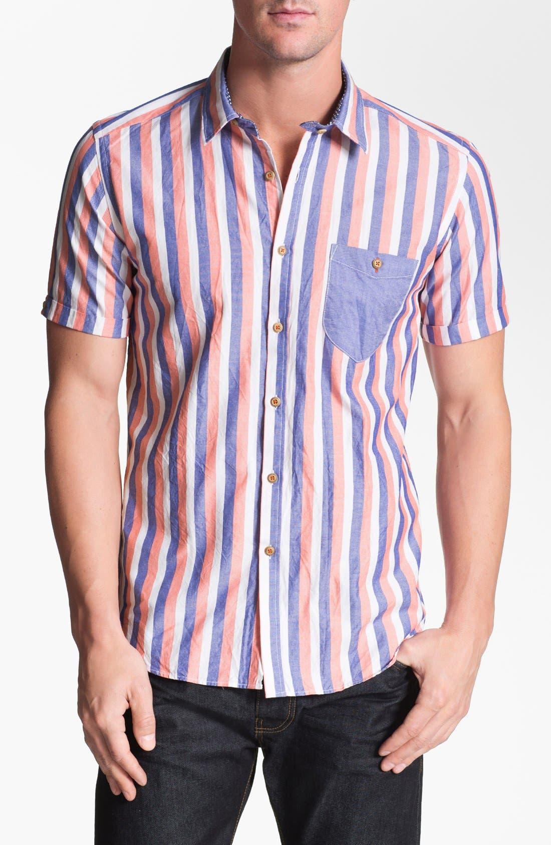 Alternate Image 1 Selected - Ted Baker London 'Rugger' Trim Fit Oxford Sport Shirt
