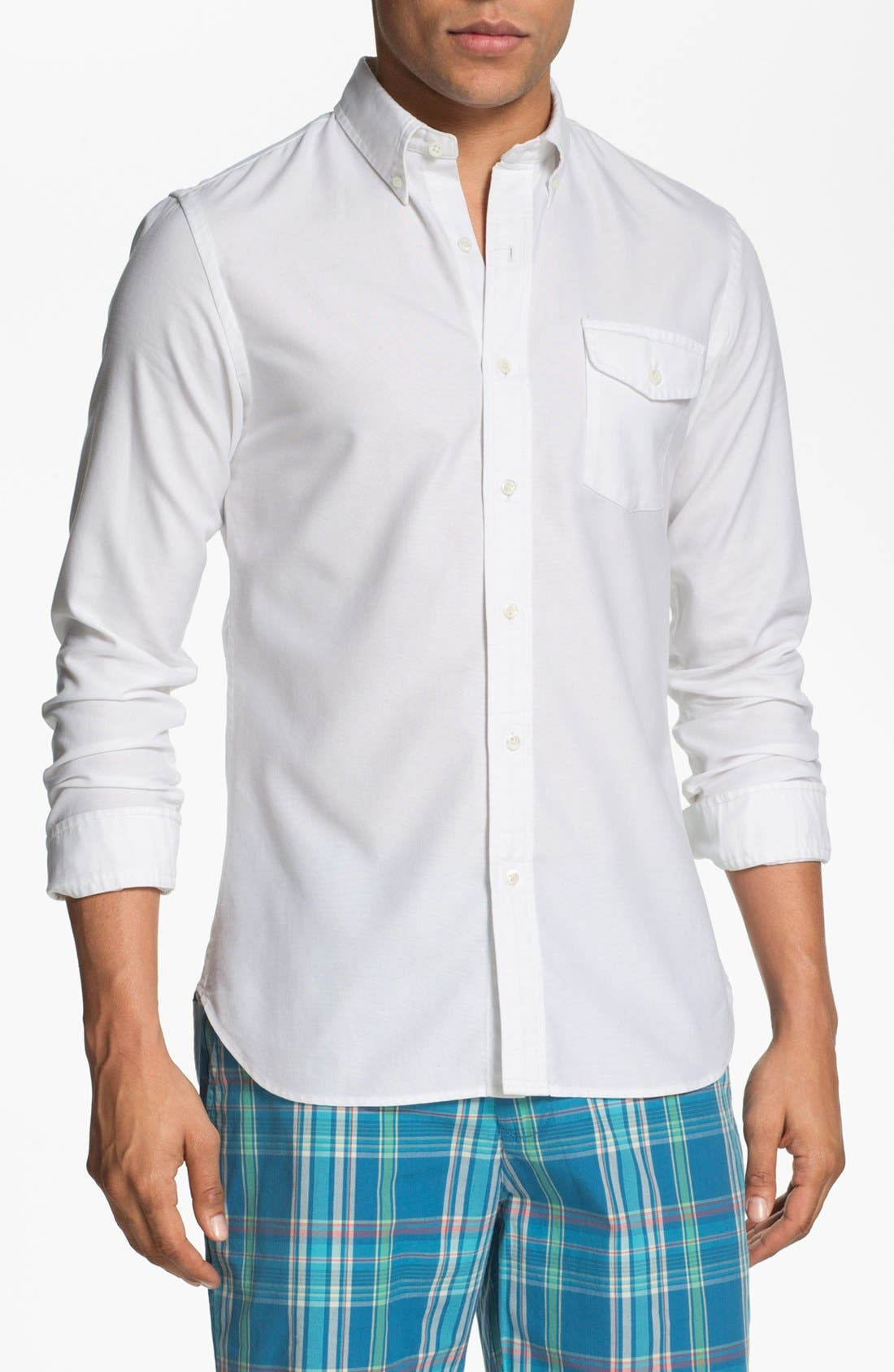 Main Image - J. Press York Street Regular Fit Oxford Sport Shirt