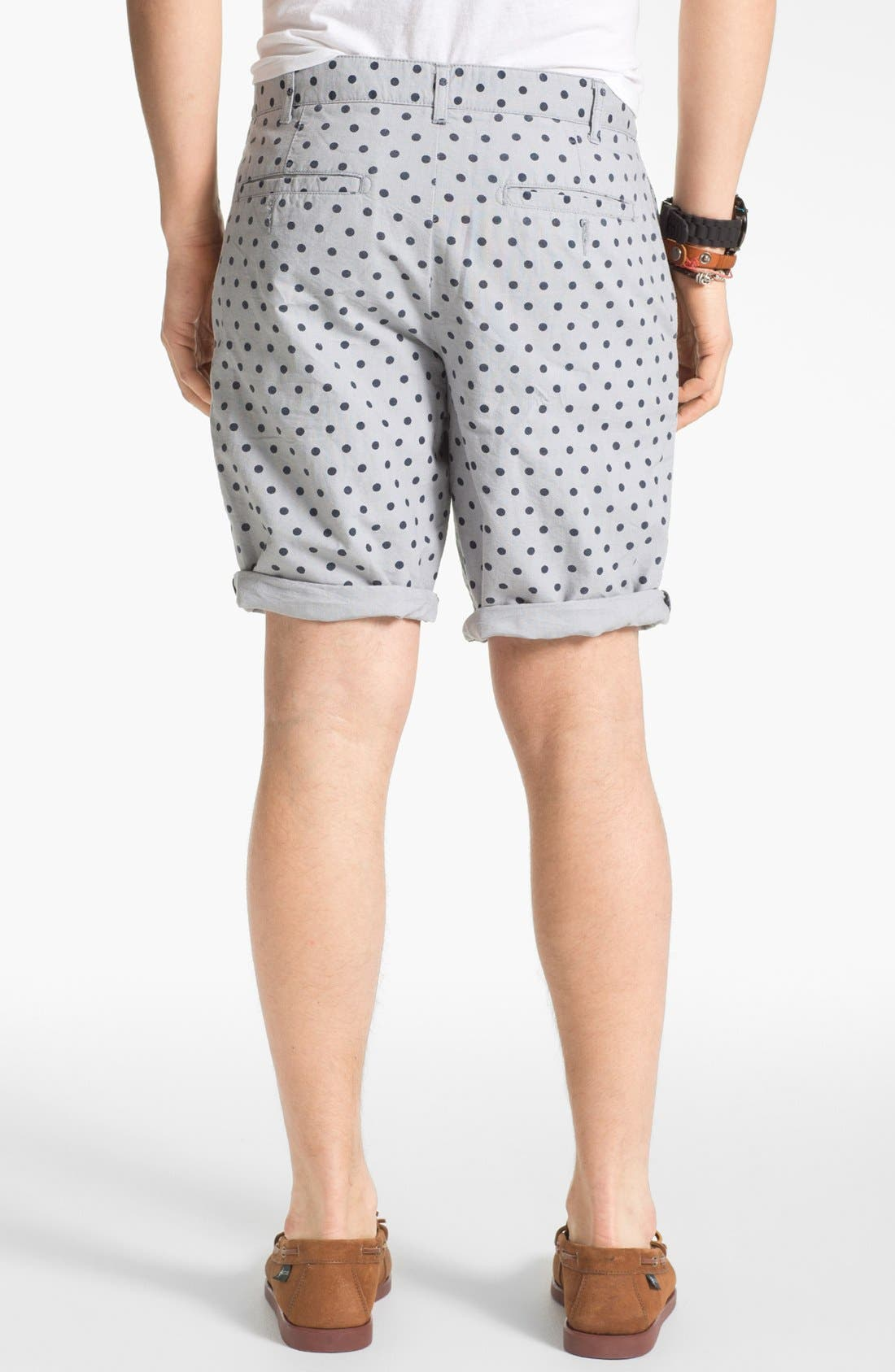 Alternate Image 3  - 1901 Mixed Print Oxford Shorts