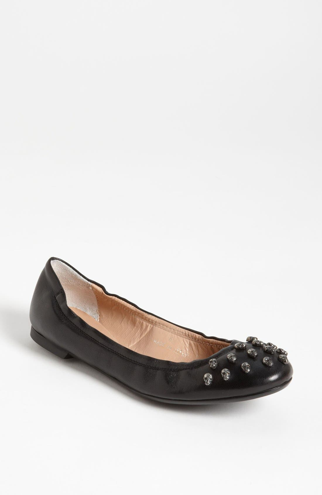Alternate Image 1 Selected - Sweet Ballerina Skull Studded Ballet Flat