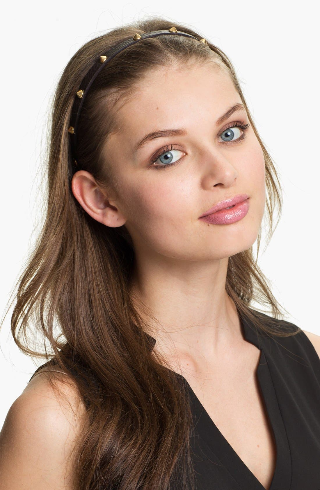 Main Image - Tasha Spiked Leather Head Wrap