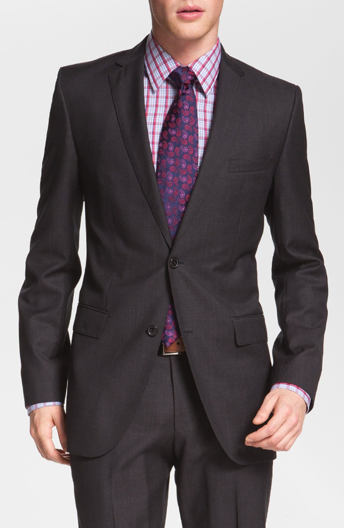 Alternate Image 3  - BOSS 'Jam/Sharp' Trim Fit Dark Grey Suit