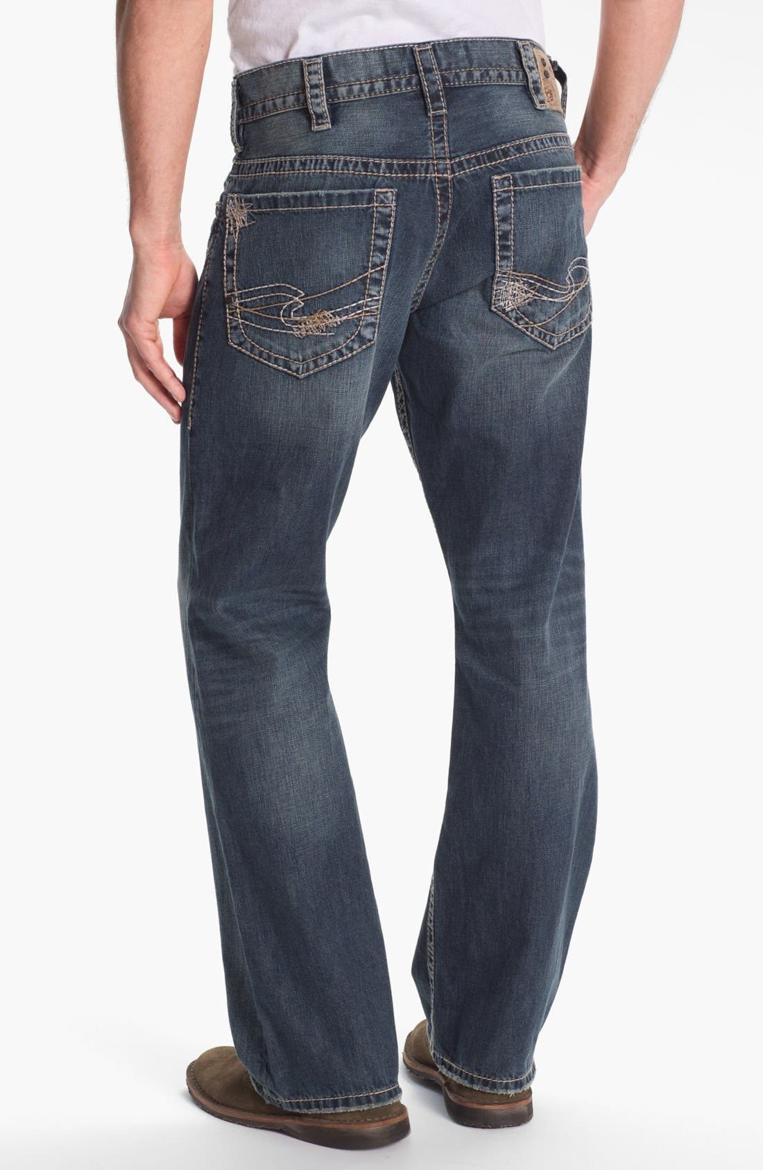 Alternate Image 1 Selected - Silver Jeans Co. 'Gordie' Bootcut Jeans (Indigo)