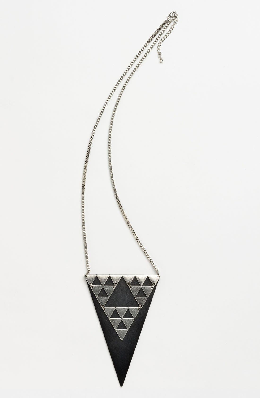 Alternate Image 1 Selected - Cara Triangle Pendant Necklace