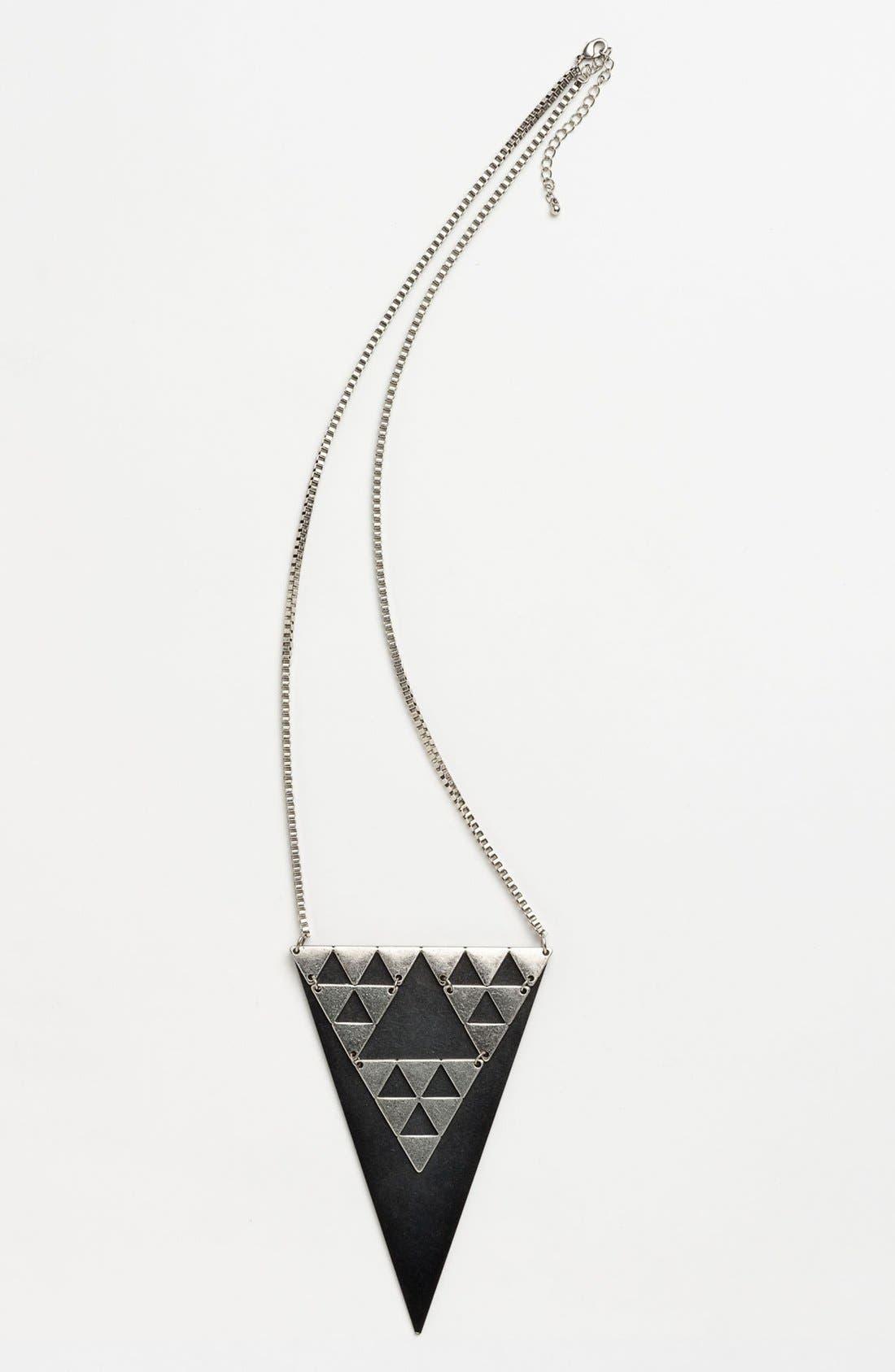 Main Image - Cara Triangle Pendant Necklace