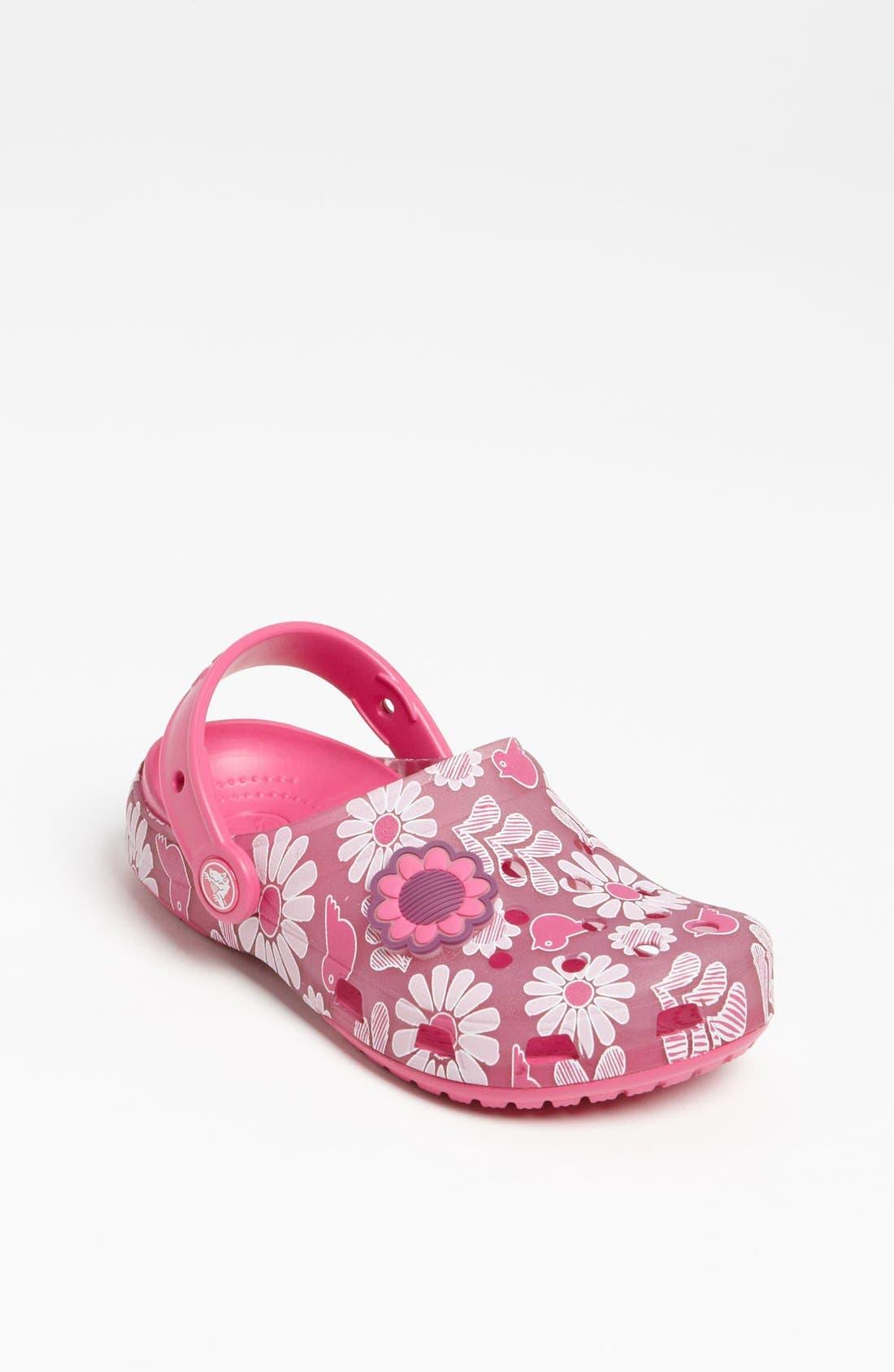 Alternate Image 1 Selected - CROCS™ 'Chameleon Floral' Slip-On (Walker, Toddler & Little Kid)