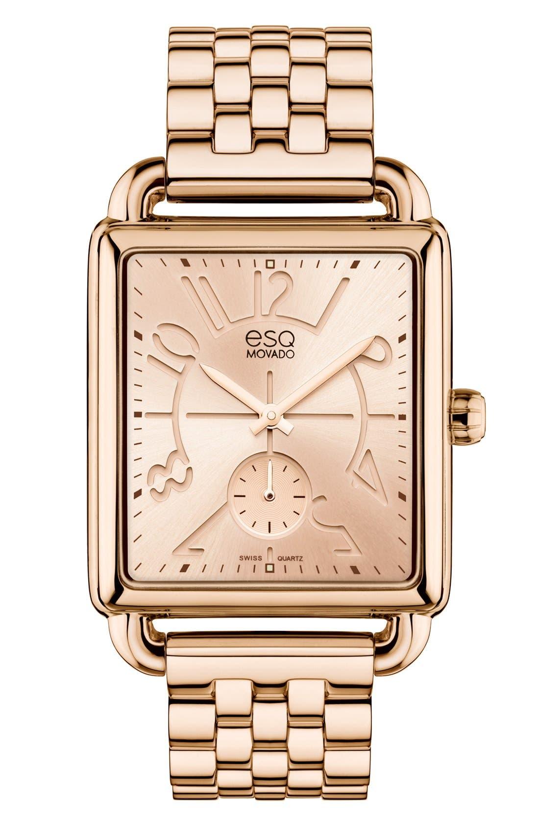 Main Image - ESQ Movado 'Origin' Rectangular Bracelet Watch, 36mm
