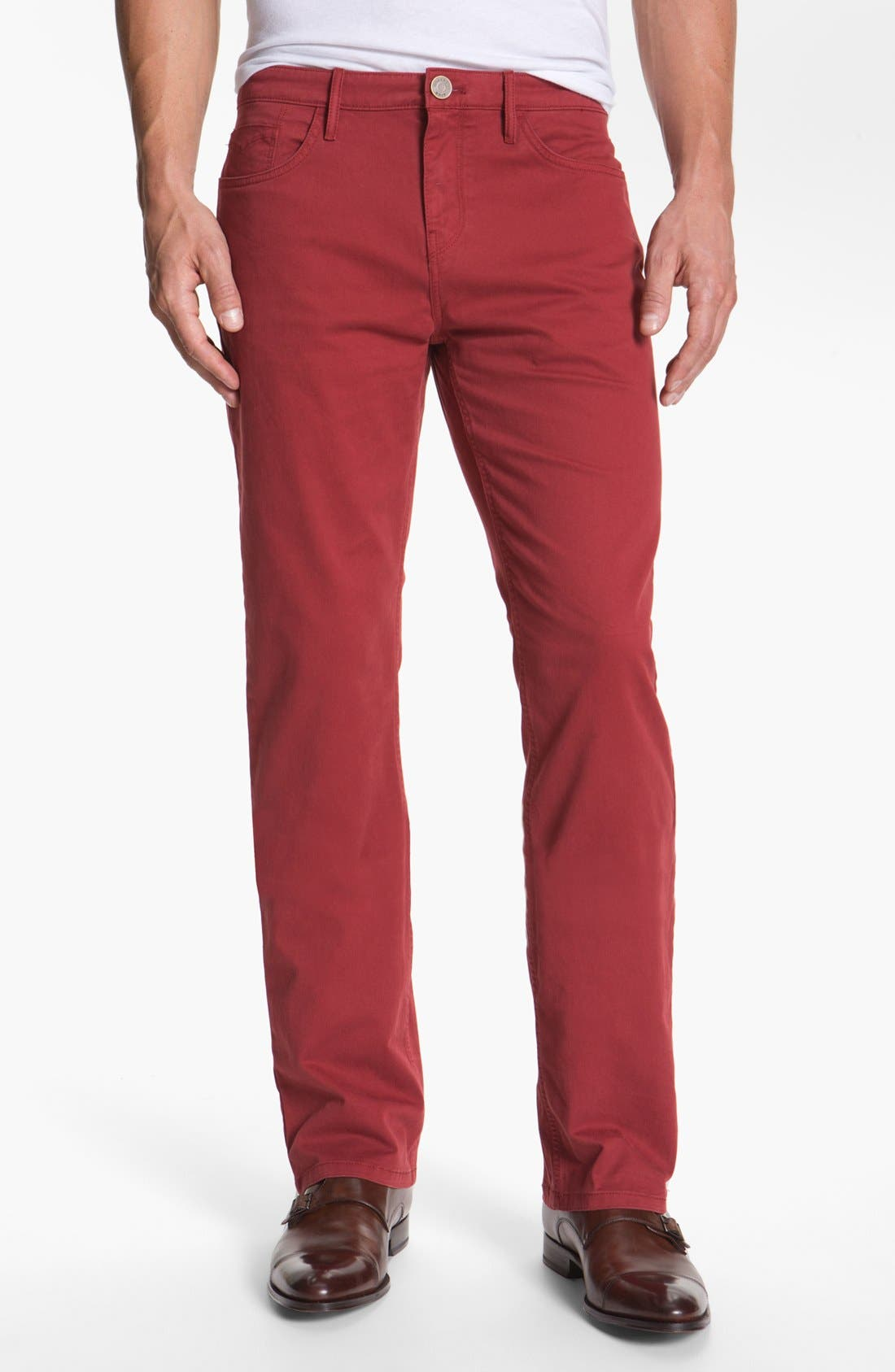 Main Image - Burberry Brit 'Southwell' Straight Leg Twill Pants