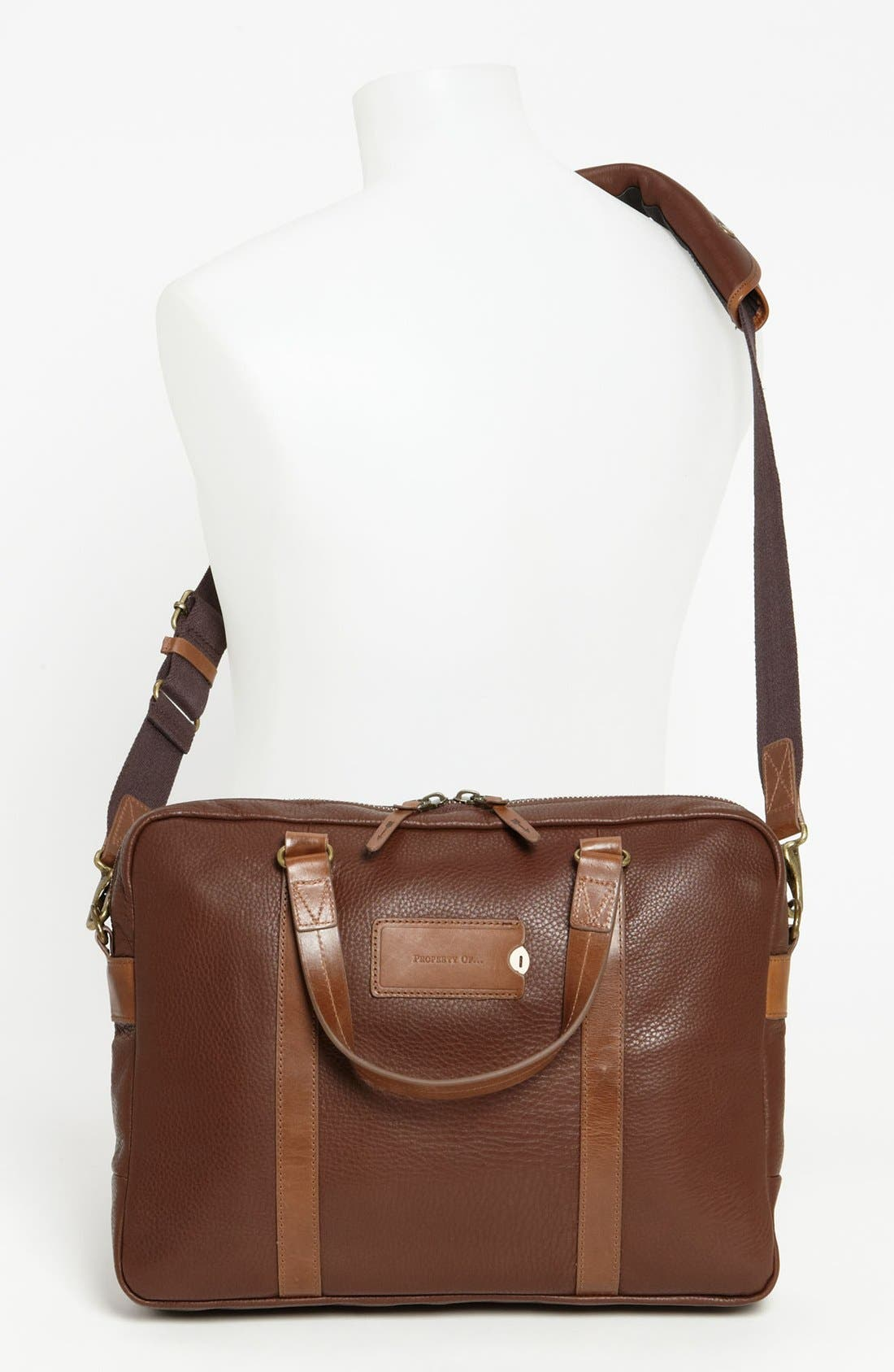 Alternate Image 4  - Property Of… 'Aiden' Leather Briefcase