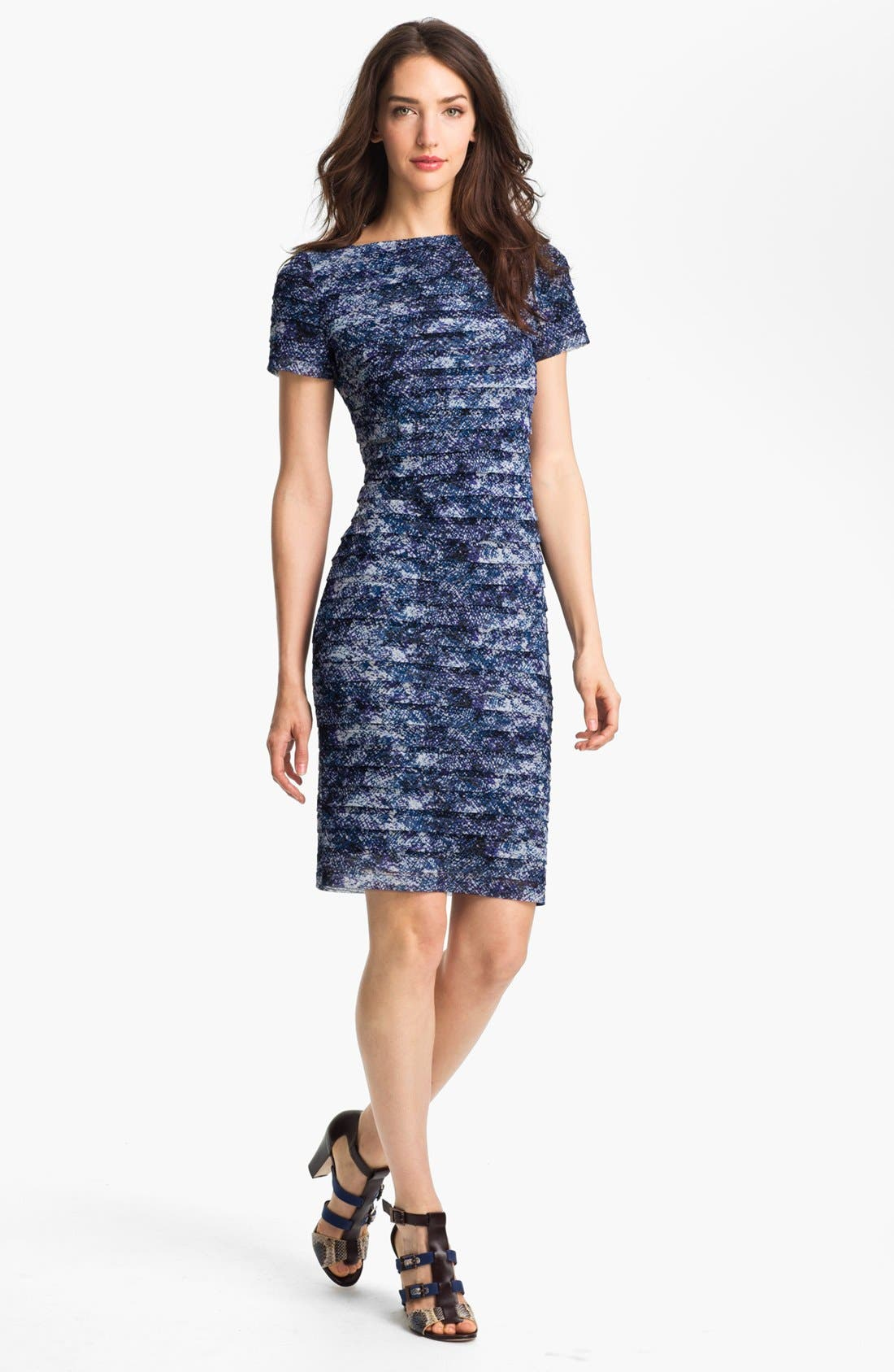 Alternate Image 1 Selected - Adrianna Papell Print Sheath Dress (Petite)