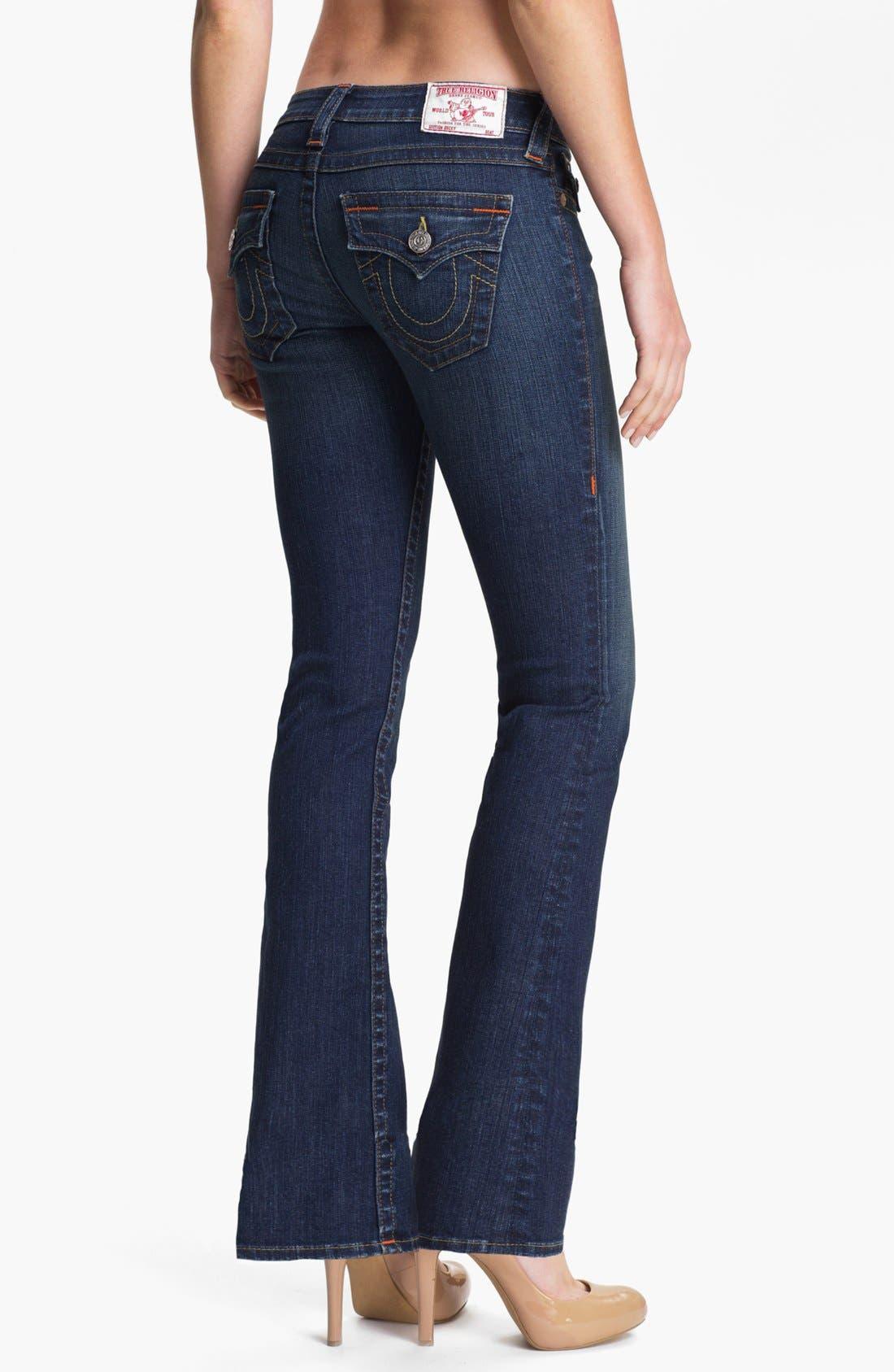 Alternate Image 2  - True Religion Brand Jeans 'Becky' Bootcut Jeans (Dusty Skies) (Petite)