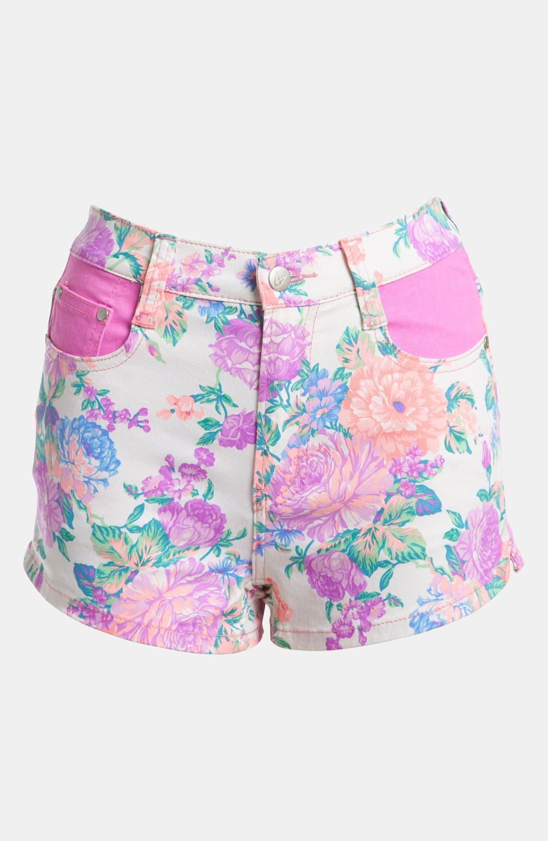 Alternate Image 1 Selected - MINKPINK 'Electric Field' High Waist Shorts