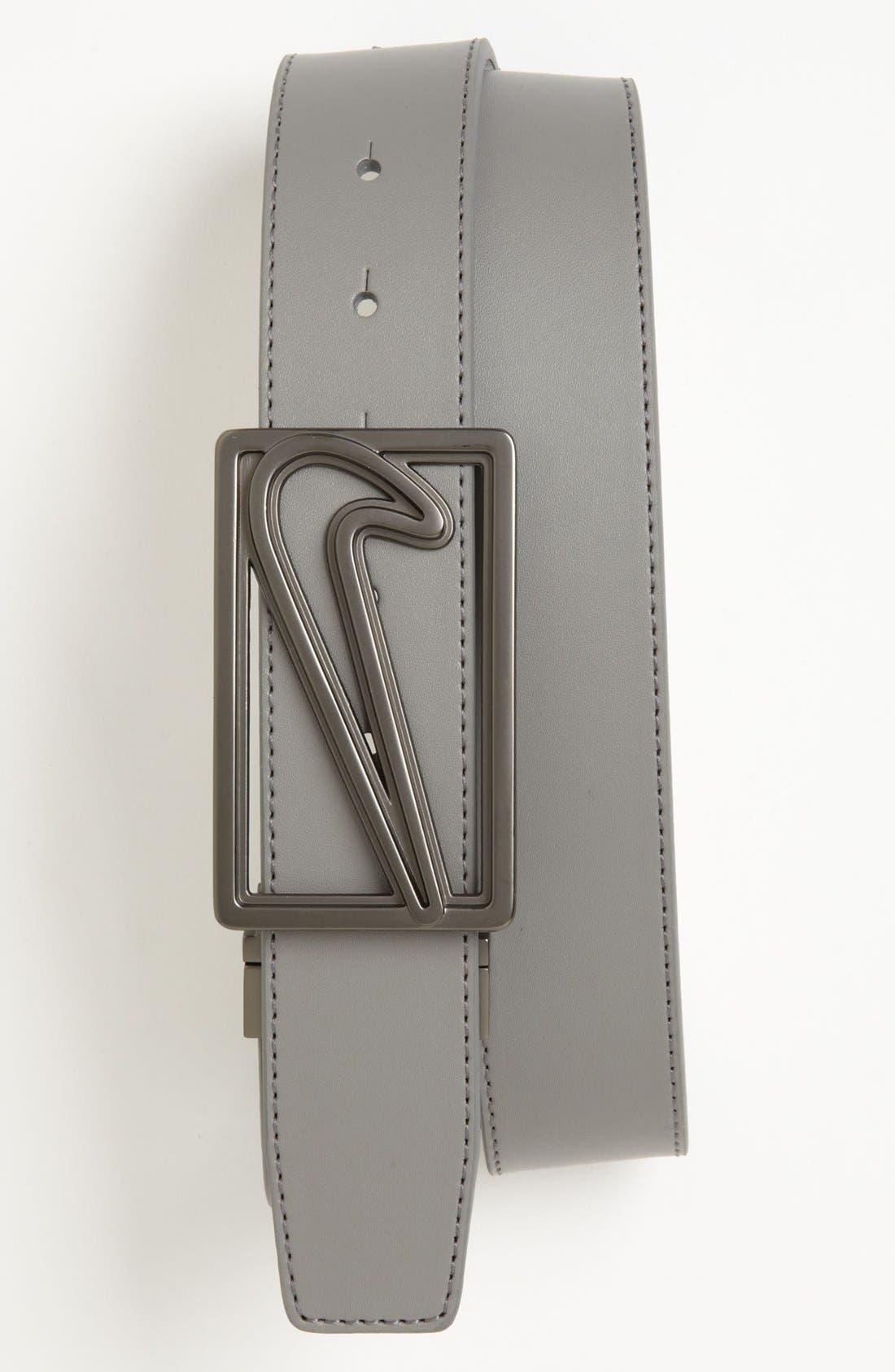 Alternate Image 1 Selected - Nike Golf 'Logo Cutout' Reversible Belt
