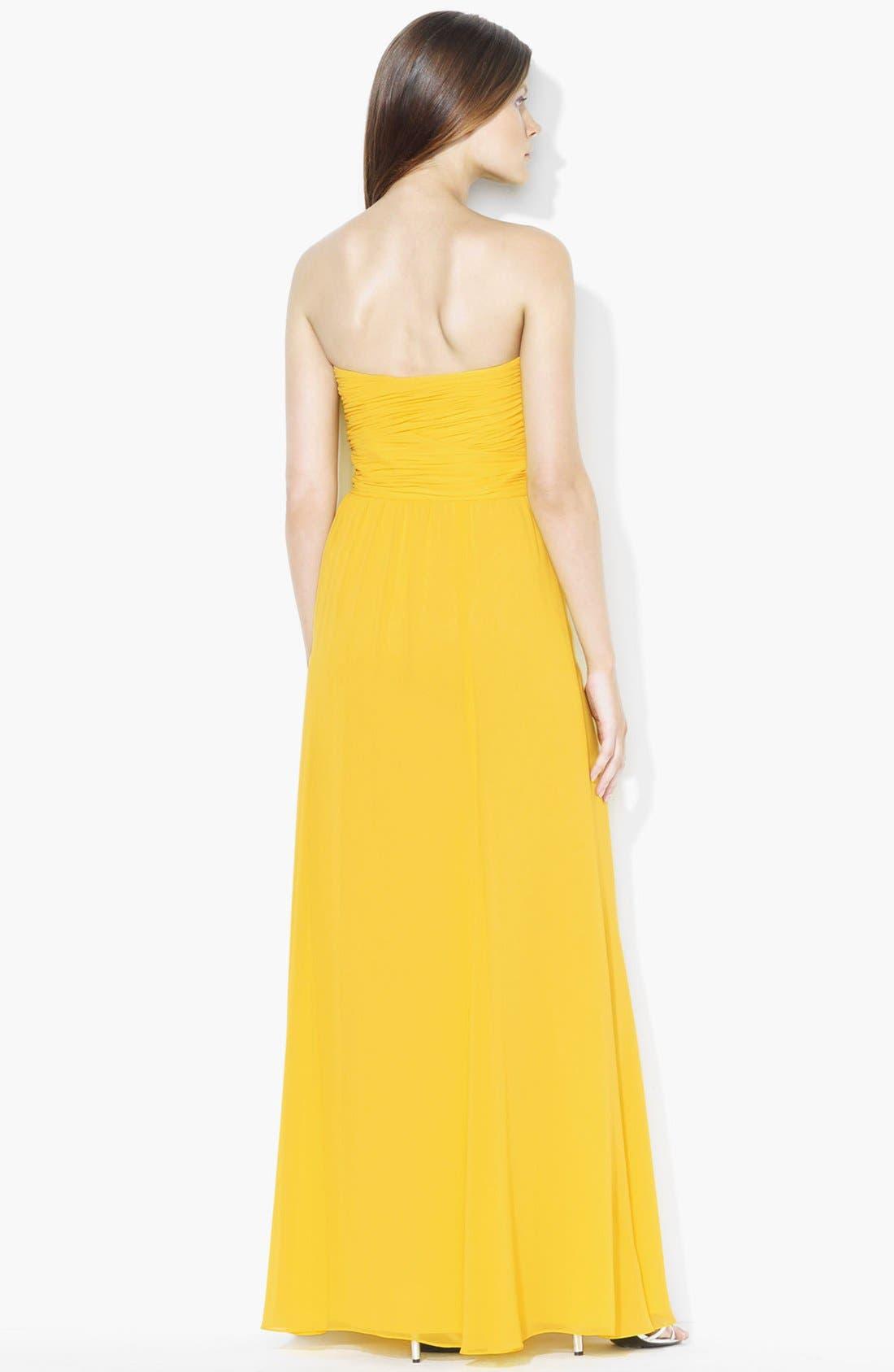 Alternate Image 2  - Lauren Ralph Lauren Wrapped Bodice Sweetheart Gown (Petite)