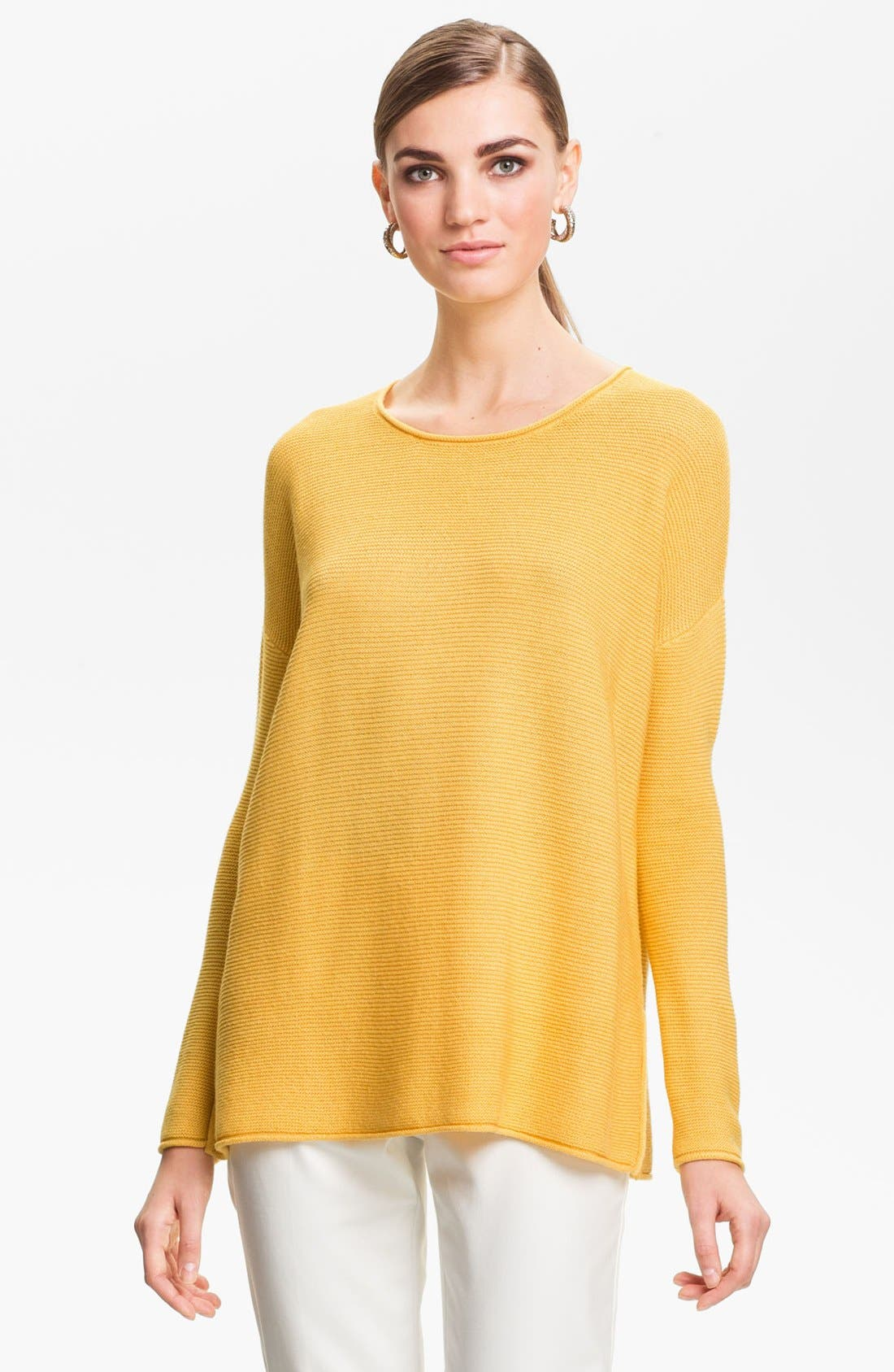 Alternate Image 1 Selected - St. John Yellow Label Ottoman Knit Sweater