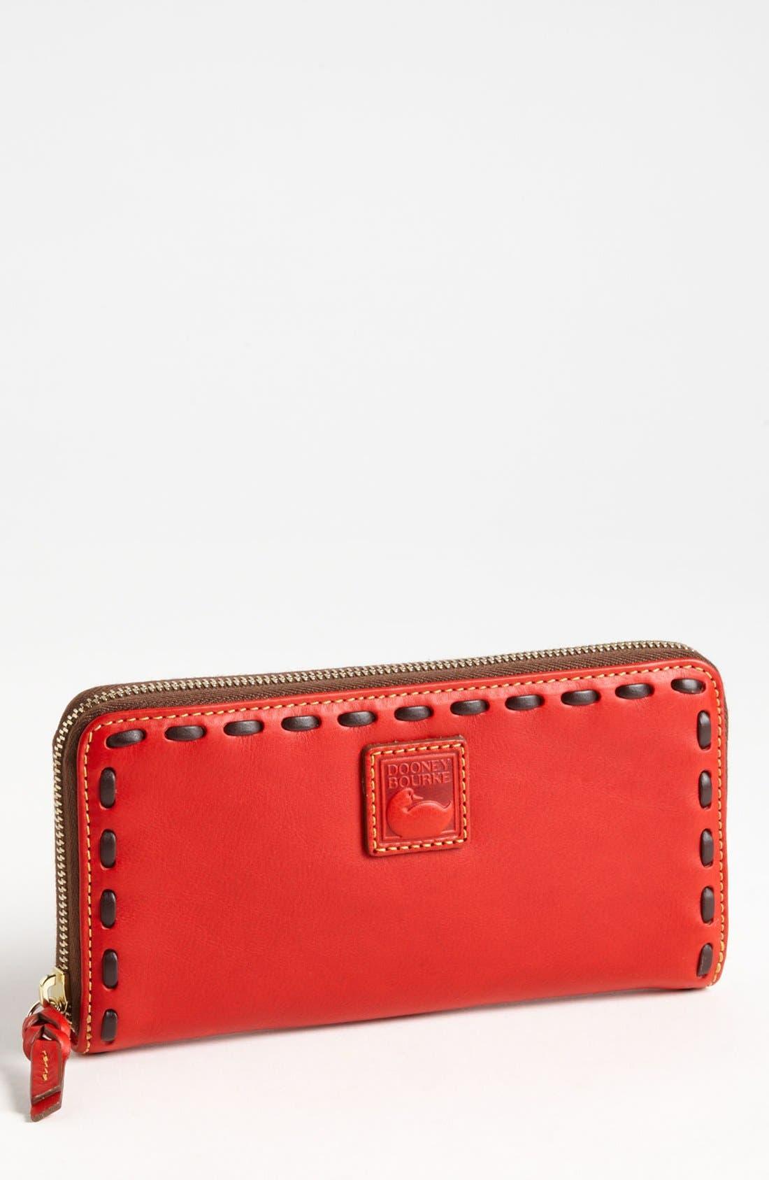 Alternate Image 1 Selected - Dooney & Bourke 'Florentine - Large' Zip Around Wallet