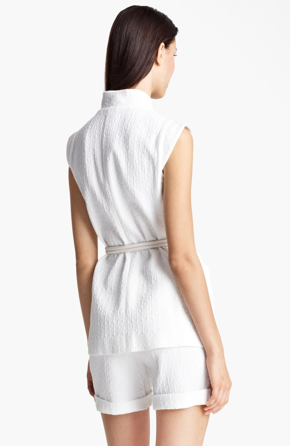 Alternate Image 3  - Armani Collezioni Embroidered Vest with Rope Belt