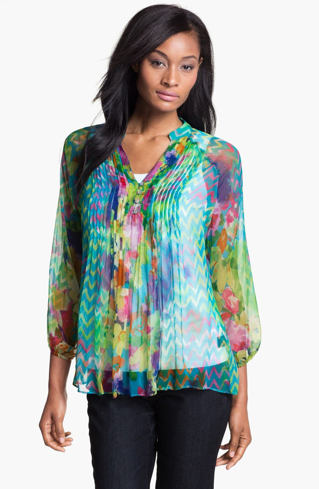 Alternate Image 1 Selected - Casual Studio Pleat Front Blouse