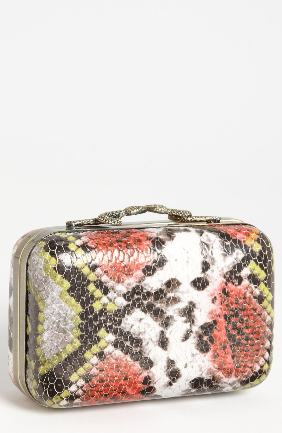 Alternate Image 1 Selected - House of Harlow 1960 'Marley' Snake Print Clutch