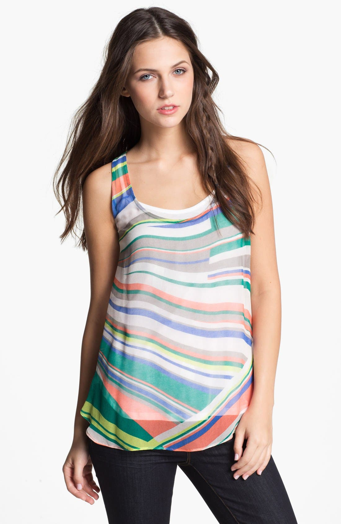 Alternate Image 1 Selected - Ella Moss Print Tank