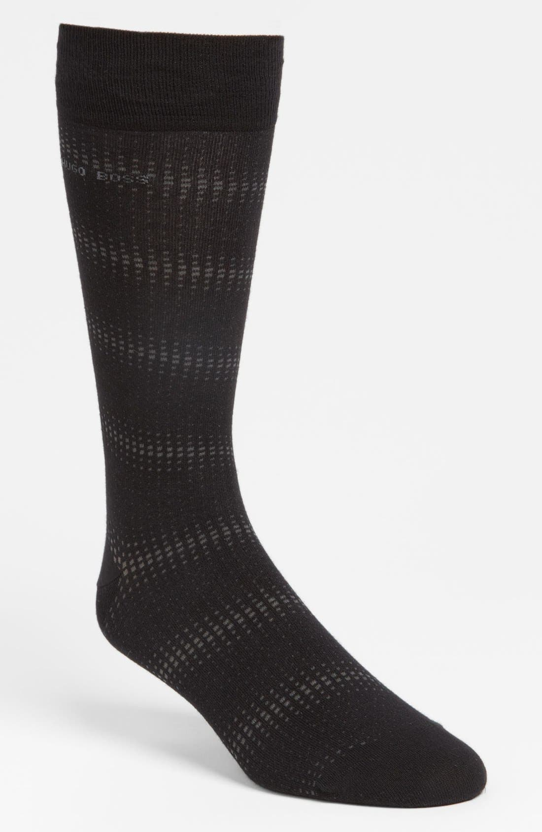 Alternate Image 1 Selected - BOSS Black Cotton Blend Socks