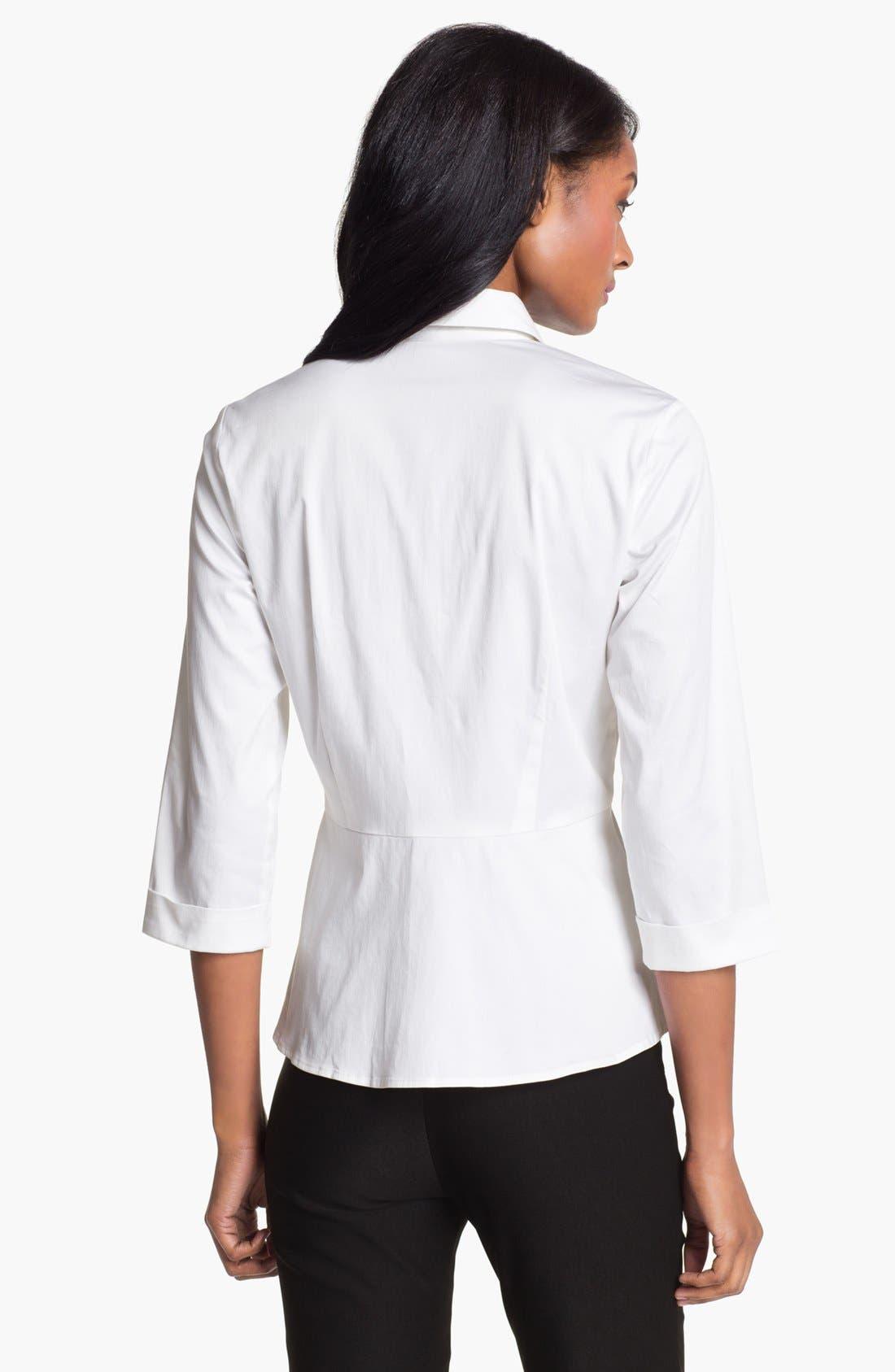 Alternate Image 2  - Pure Amici Peplum Shirt