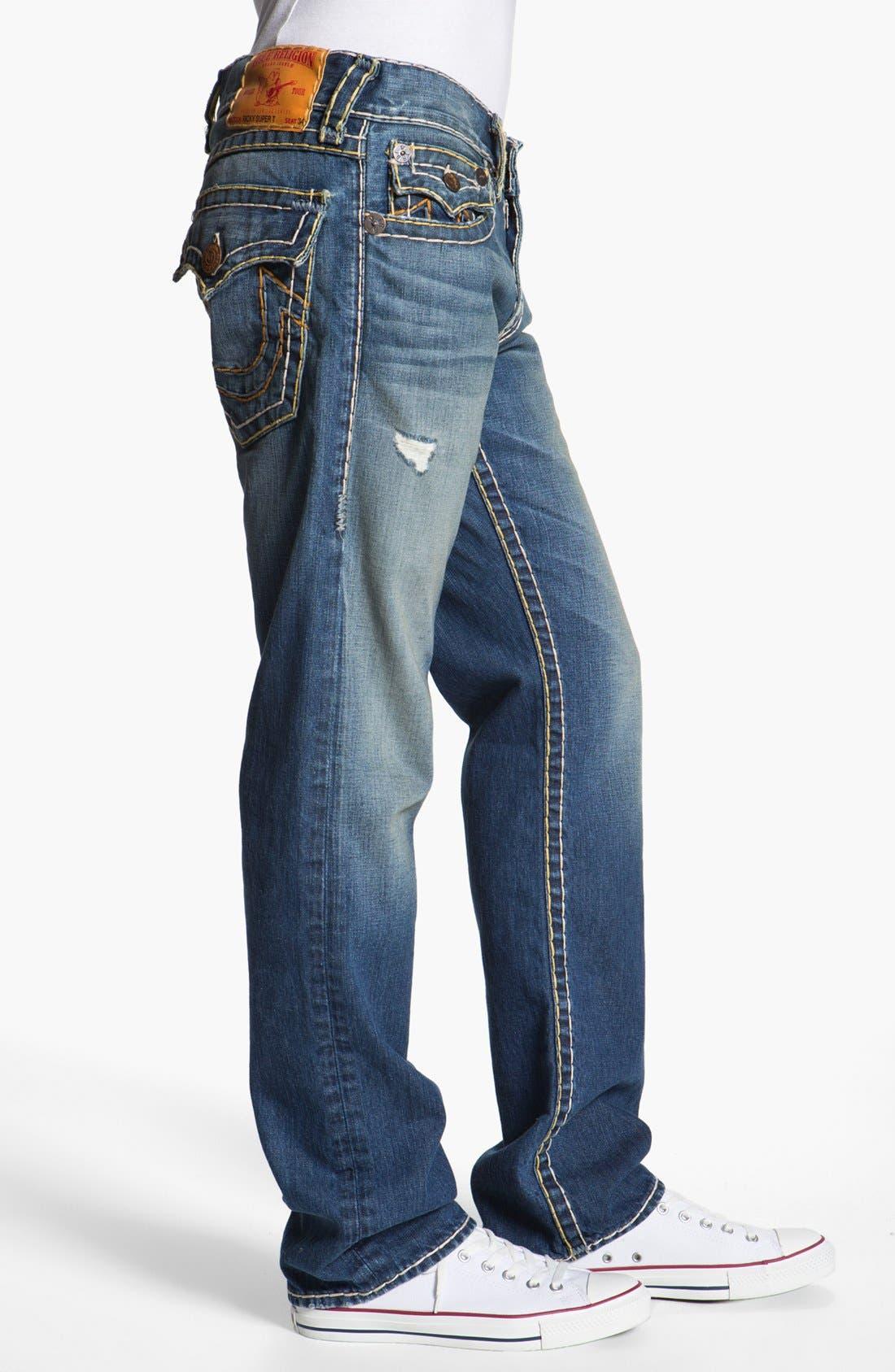Alternate Image 3  - True Religion Brand Jeans 'Ricky' Straight Leg Jeans (Tribute)