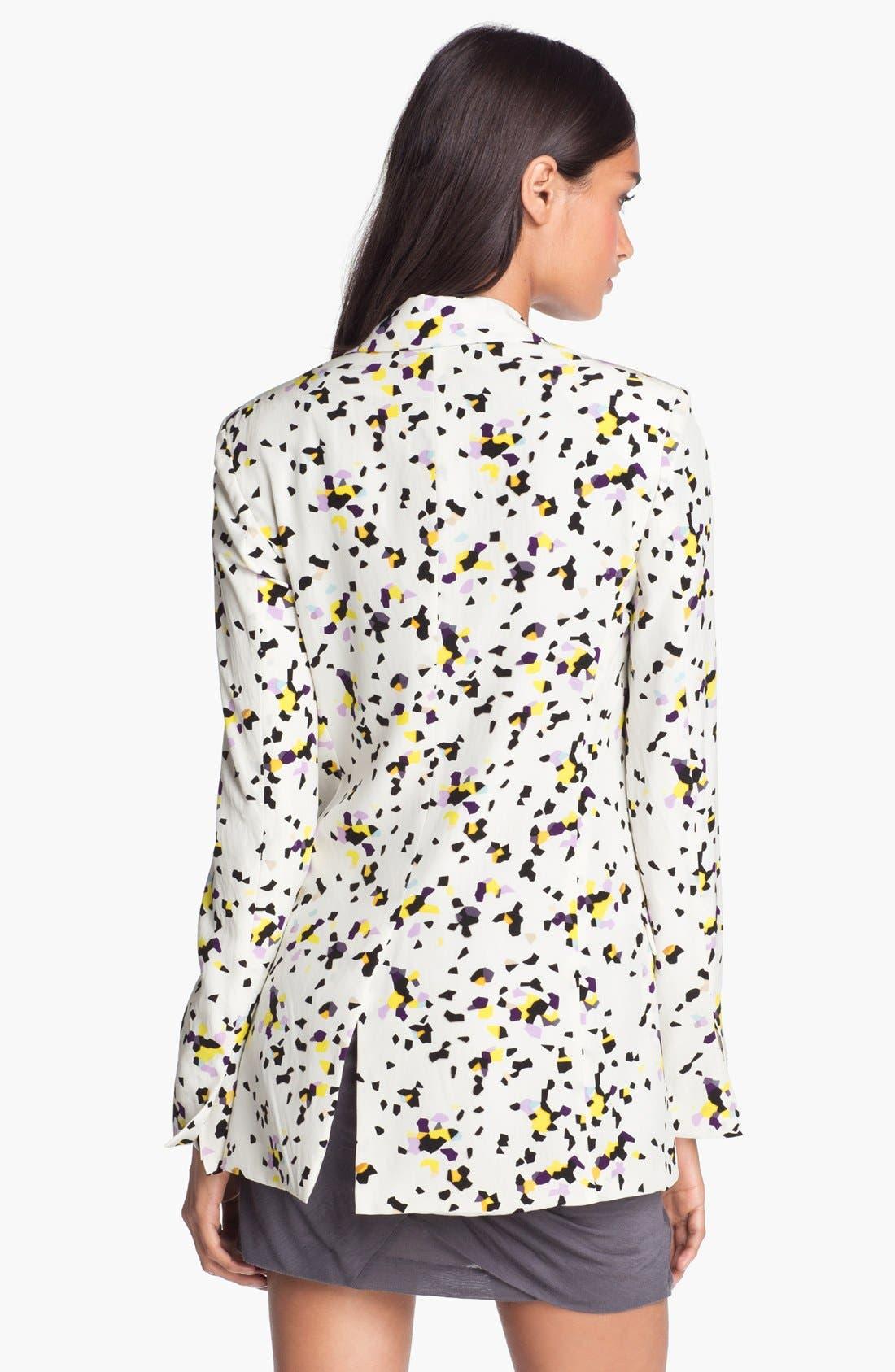 Alternate Image 2  - Diane von Furstenberg Print Silk Blazer