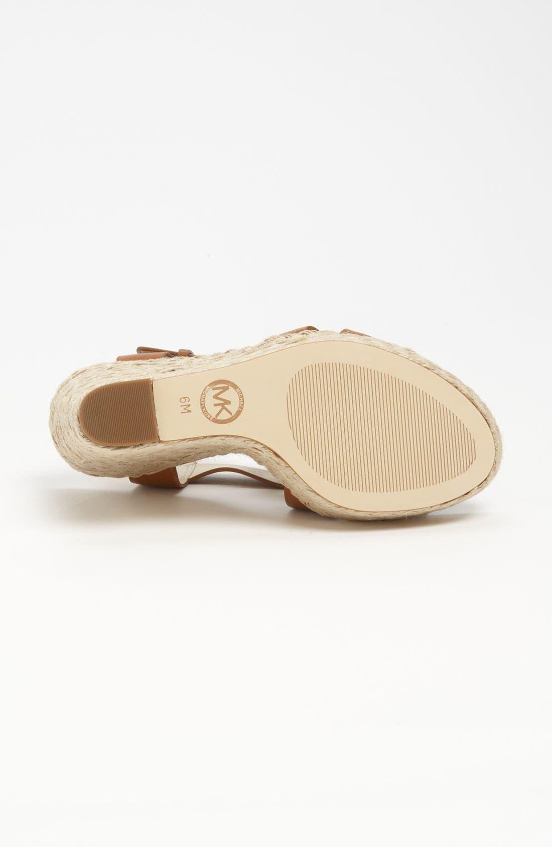 Alternate Image 4  - MICHAEL Michael Kors 'Giovanna' Wedge Sandal