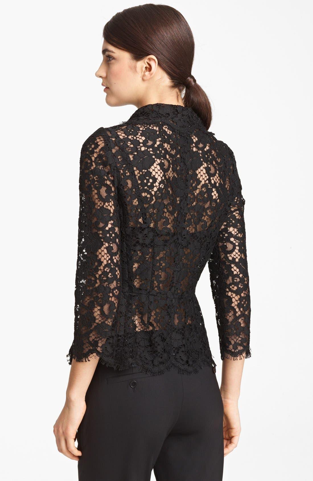 Alternate Image 2  - Dolce&Gabbana Sheer Lace Jacket
