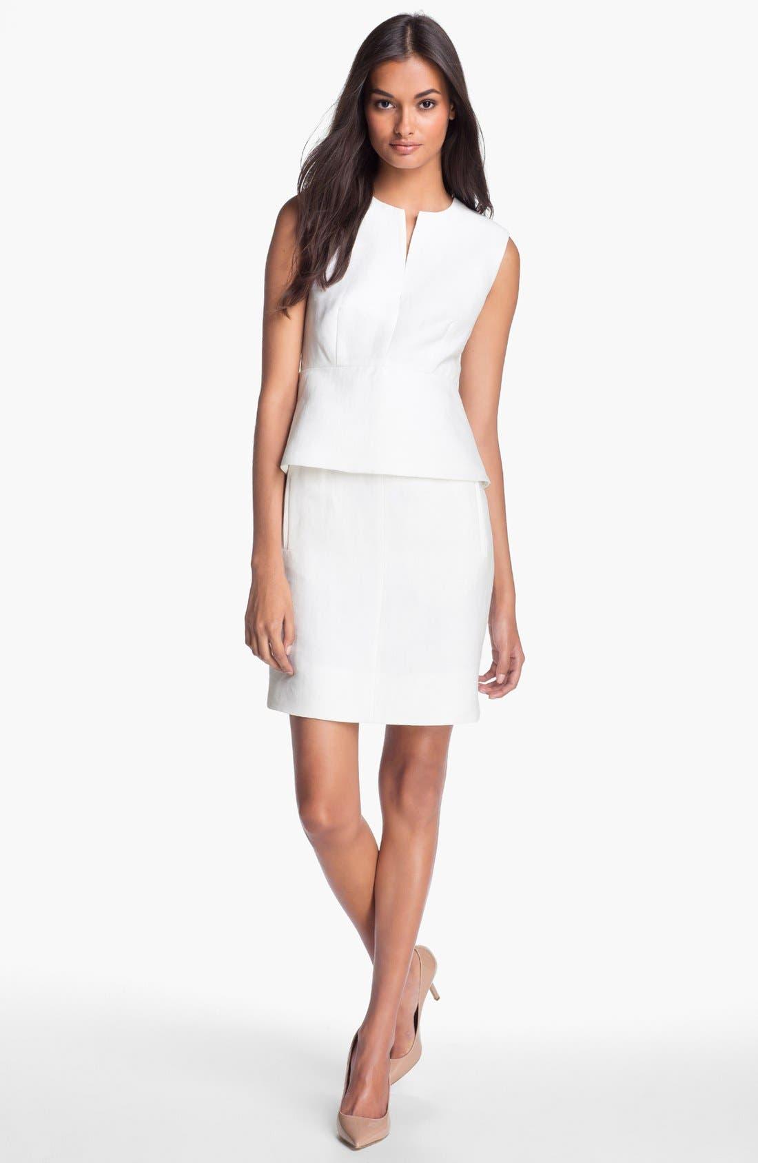 Alternate Image 1 Selected - Diane von Furstenberg 'Delian' Linen Blend Sheath Dress