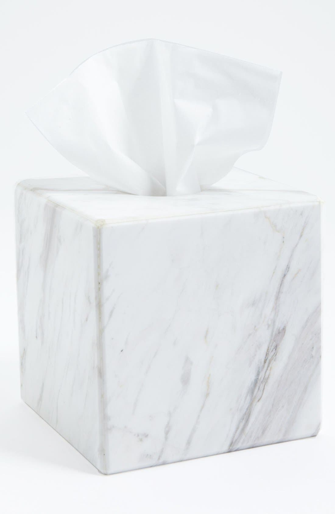 Alternate Image 1 Selected - Waterworks Studio 'Luna' White Marble Tissue Cover (Online Only)