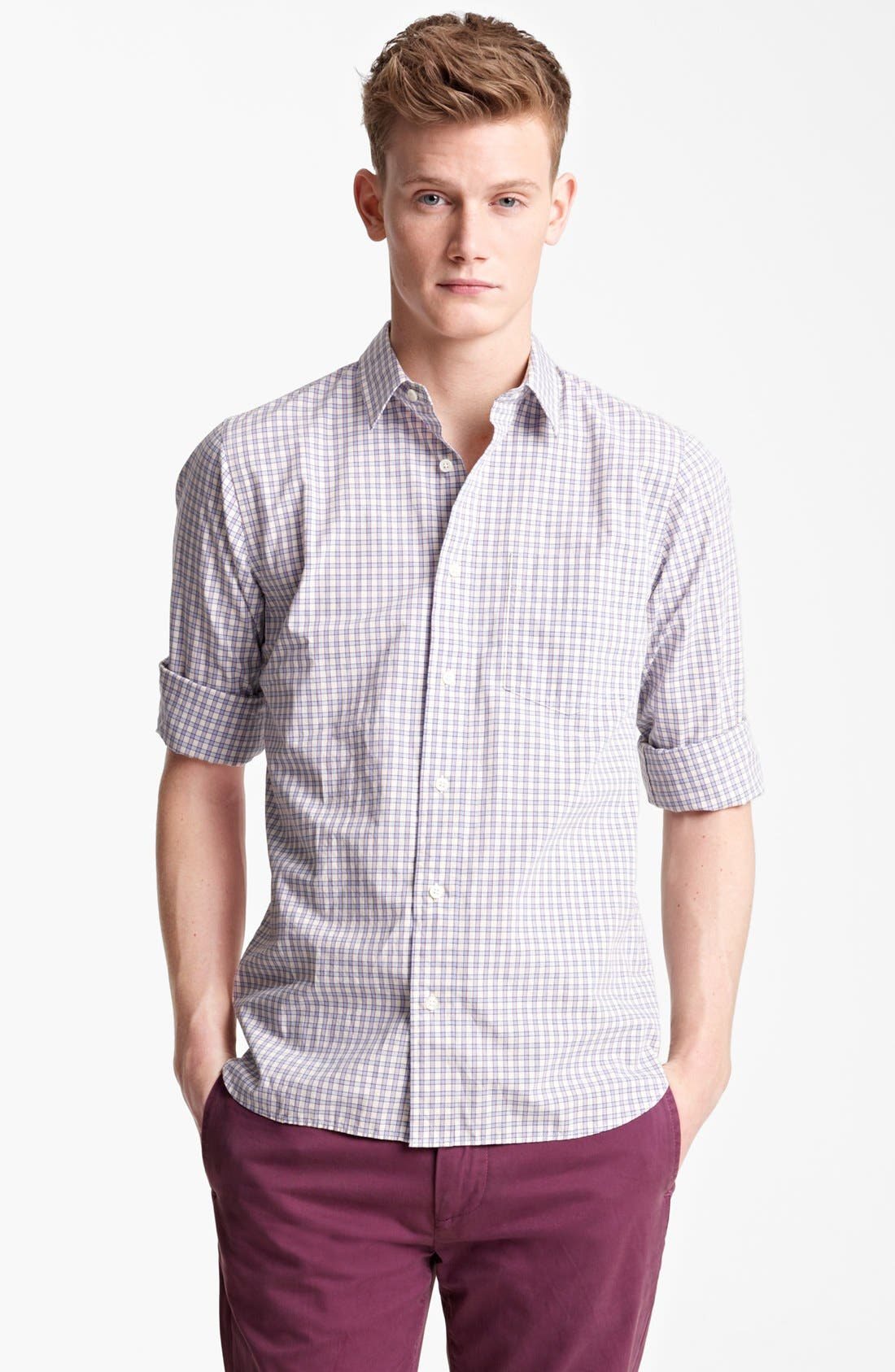 Alternate Image 1 Selected - Jack Spade 'Yates' Check Cotton Shirt