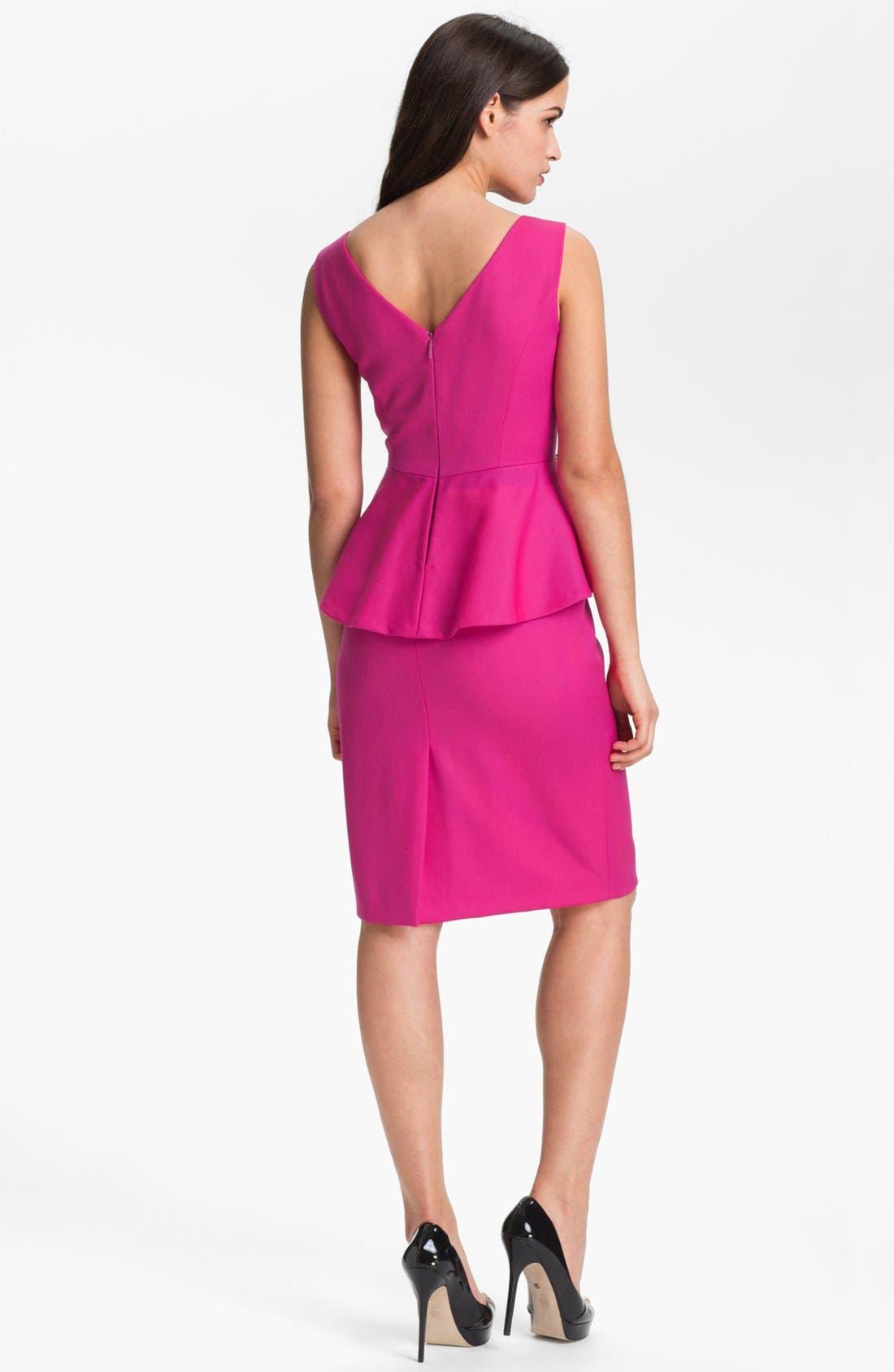 Alternate Image 2  - Anne Klein Peplum Sheath Dress (Petite)