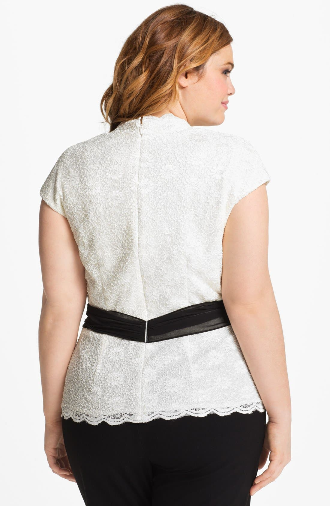 Alternate Image 2  - Alex Evenings Lace Surplice Blouse (Plus Size)